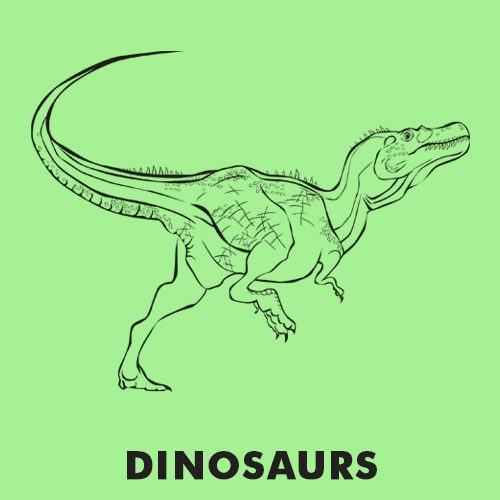 Educational coloring pages - Dinosaurs