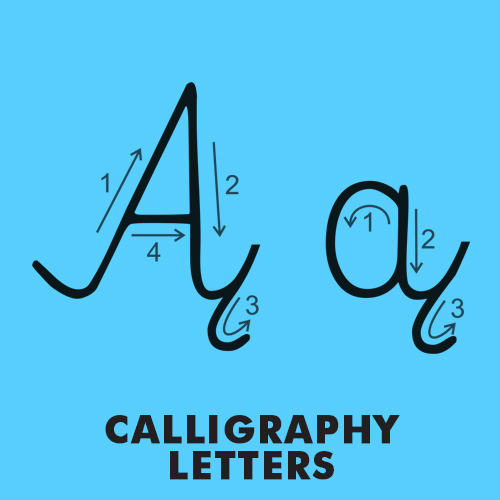 Educational coloring pages - Calligraphy / Handwriting letters