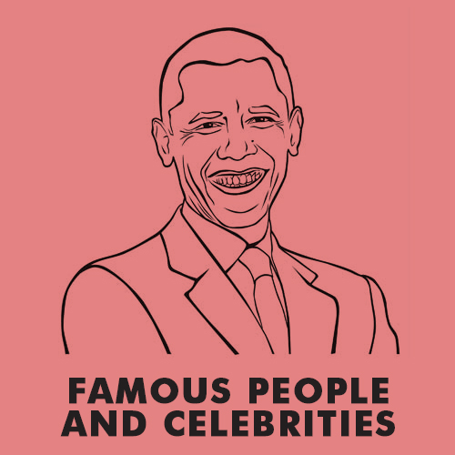 Educational coloring pages for kids - Famous people and celebrities