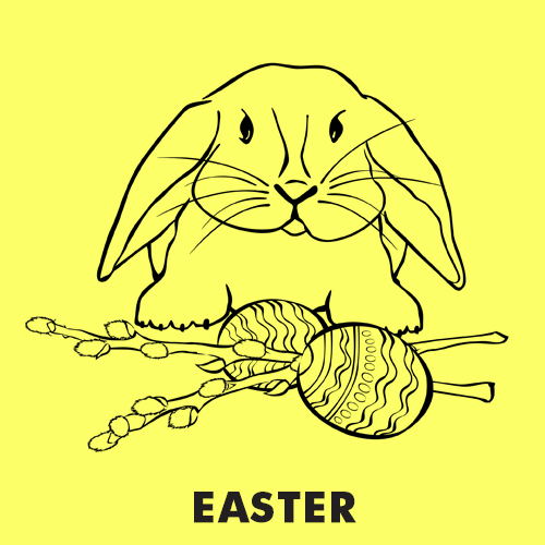 Educational coloring pages for kids - Easter coloring pages