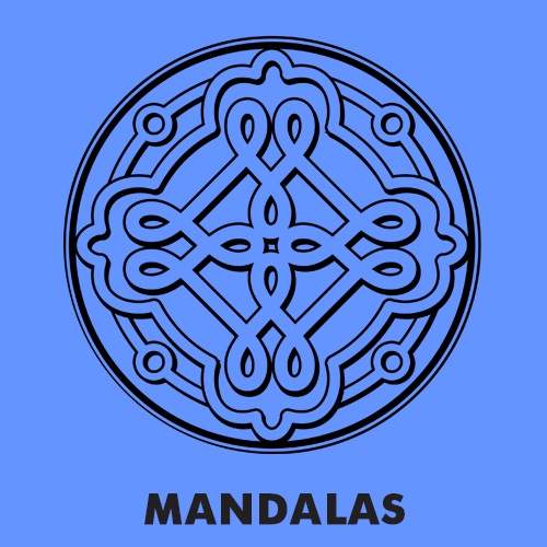 Educational coloring pages for kids - Mandalas