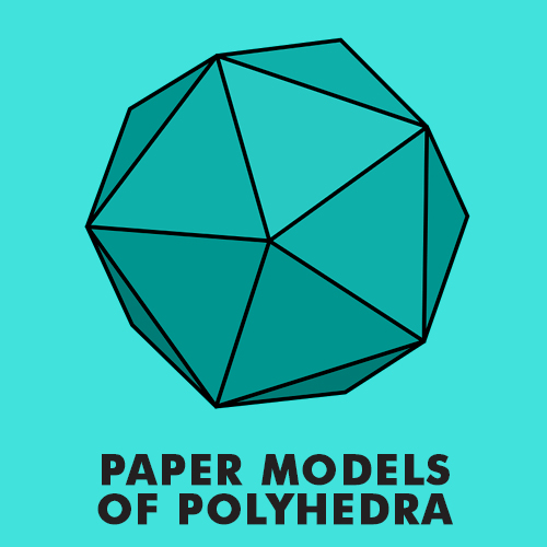 Educational coloring pages for kids - Paper Models of Polyhedra