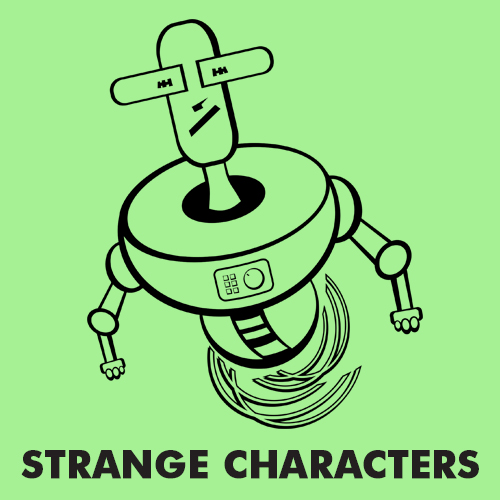 Educational coloring pages for kids - Strange Characters