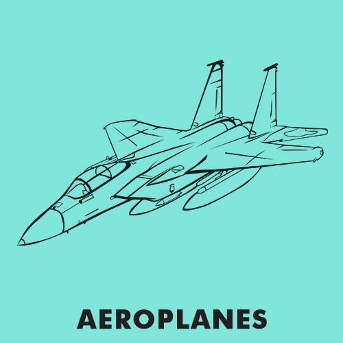 Educational coloring pages - Vehicles / Aeroplanes