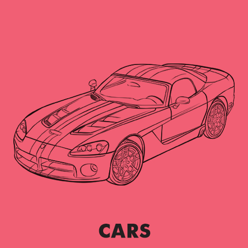 Educational coloring pages - Vehicles / Cars