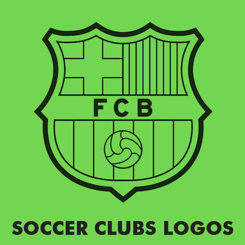Educational coloring pages for kids - Soccer clubs logos
