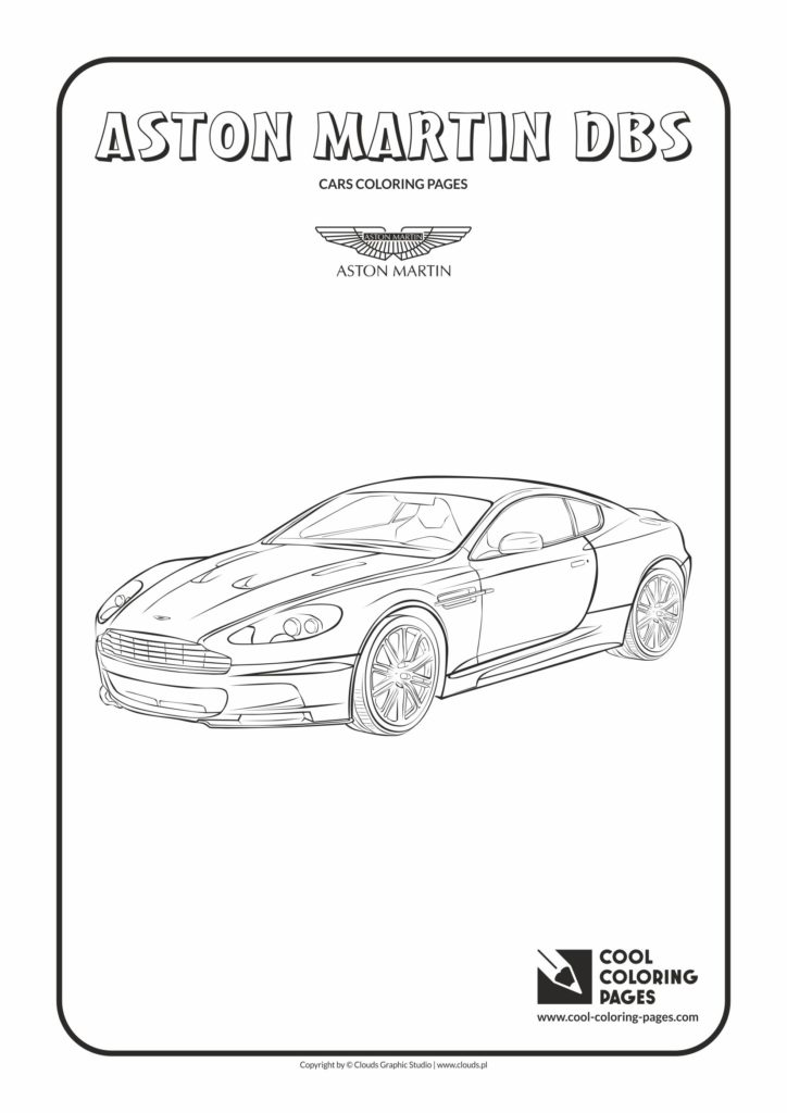 cool coloring pages aston martin dbs coloring page