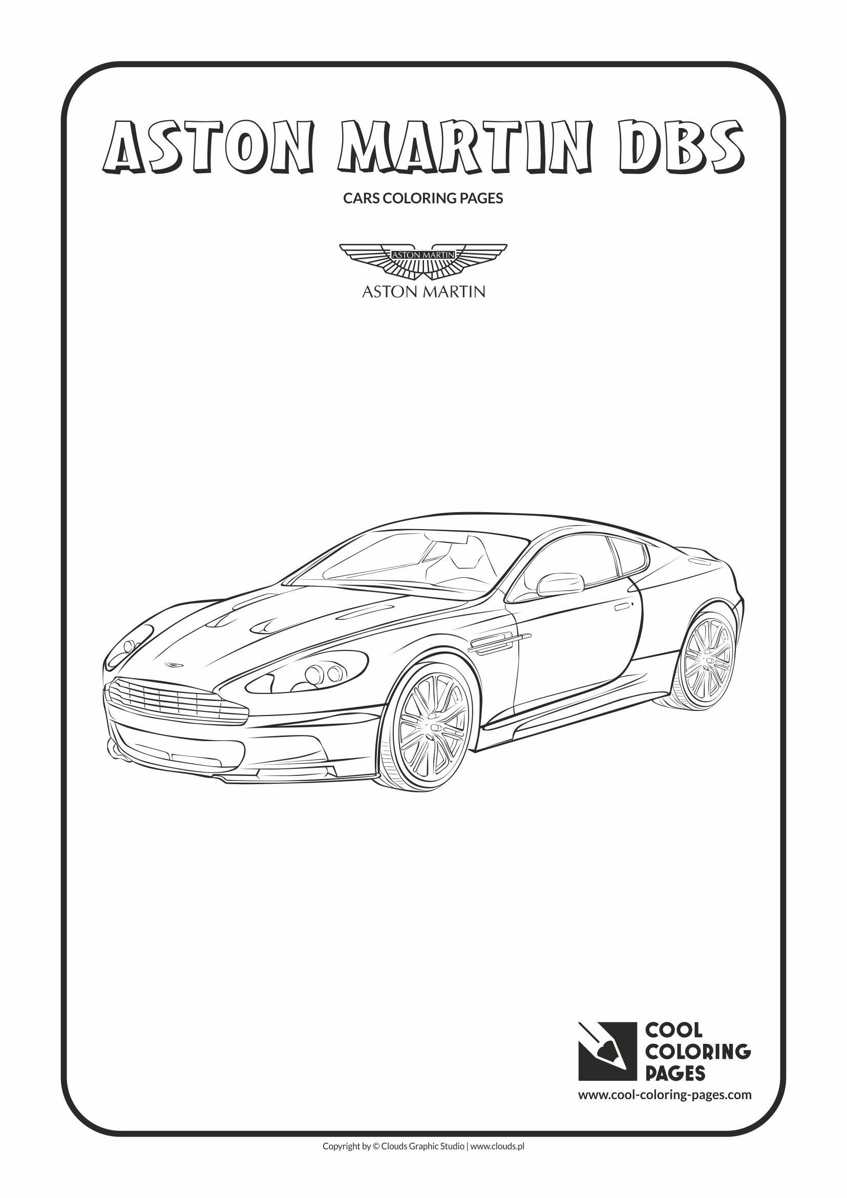 Cool Coloring Pages - Vehicles / Aston Martin DBS / Coloring page with Aston Martin DBS