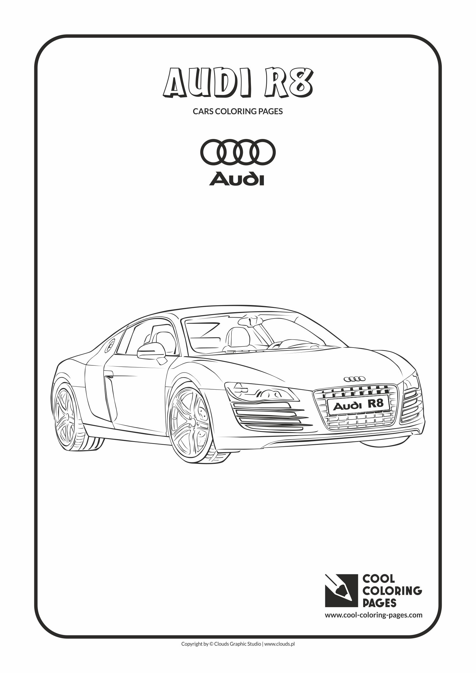 Cool Coloring Pages - Vehicles / Audi R8 / Coloring page with Audi R8
