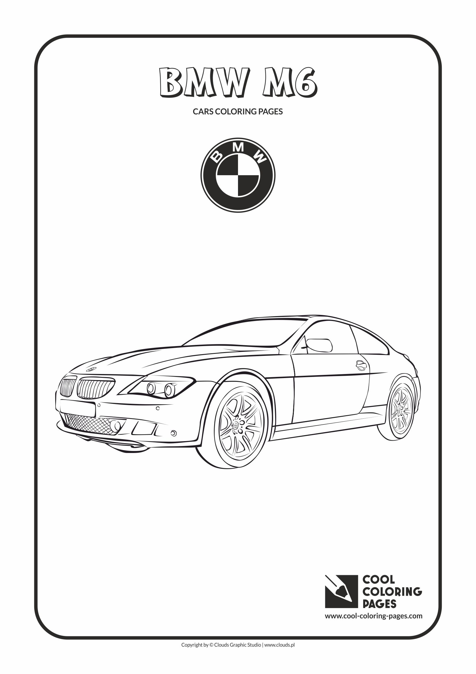 Cool Coloring Pages - Vehicles / Bmw M6 / Coloring page with Bmw M6