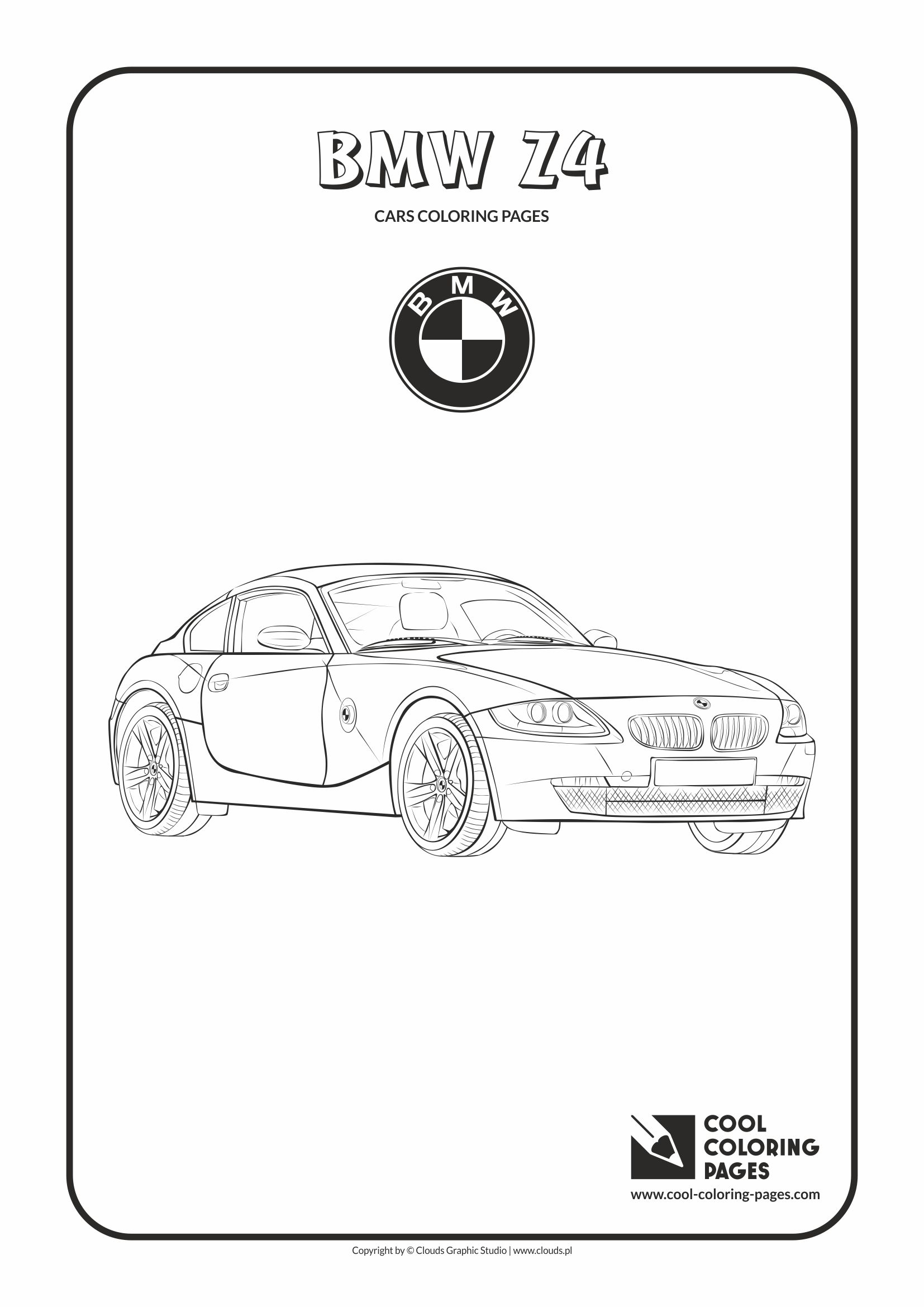 Cool Coloring Pages - Vehicles / BMW Z4 / Coloring page with BMW Z4