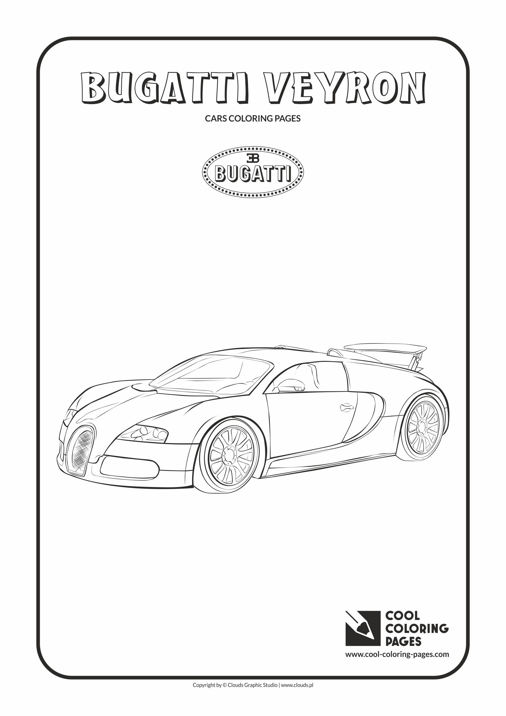 Cool Coloring Pages - Vehicles / Bugatti Veyron / Coloring page with Aston Bugatti Veyron