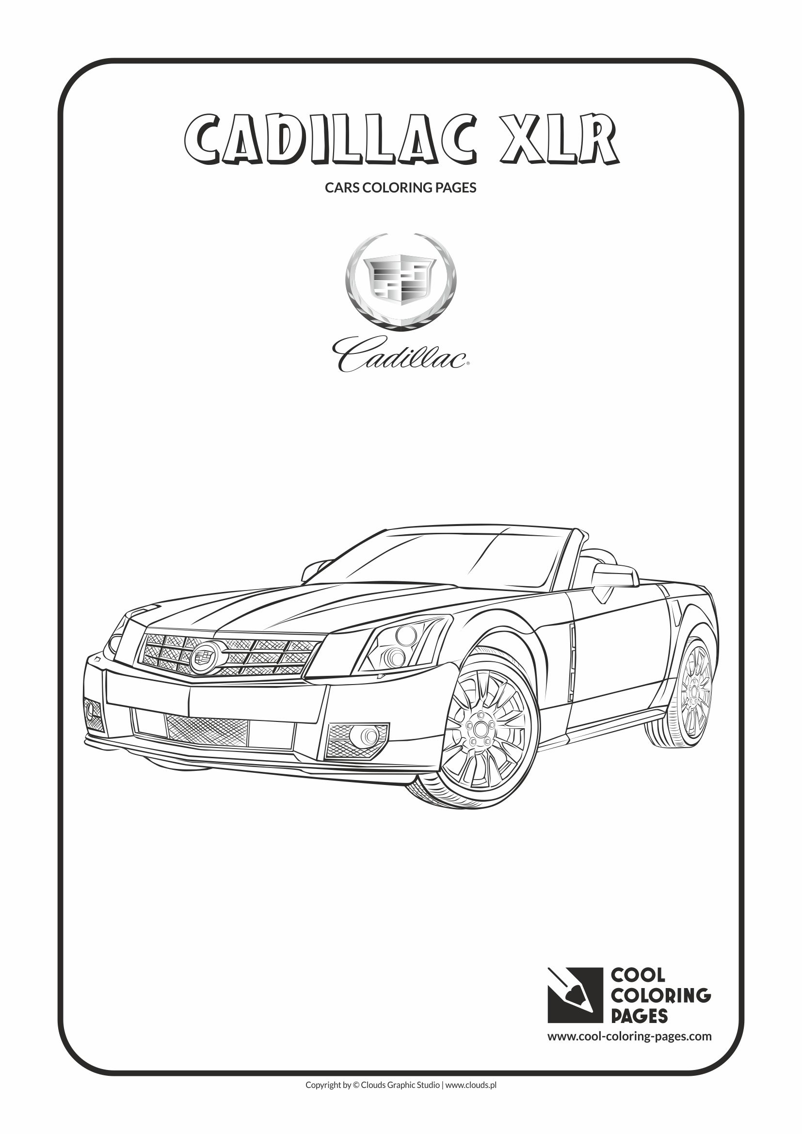 Cool Coloring Pages - Vehicles / Cadillac XLR / Coloring page with Cadillac XLR