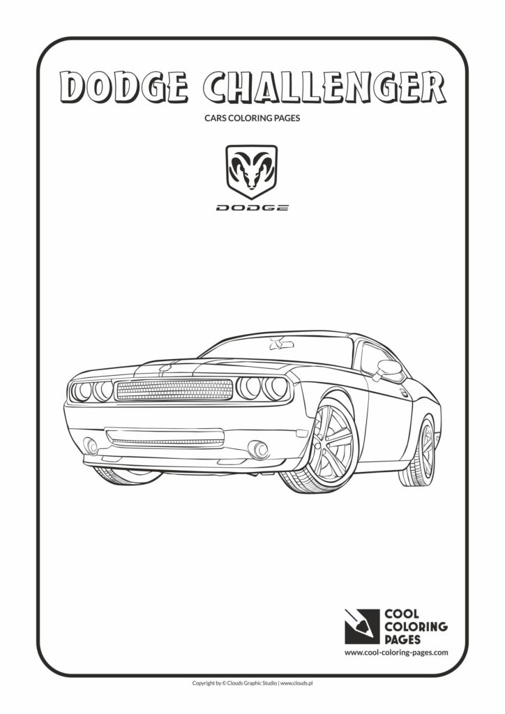 cool coloring pages dodge challenger coloring page