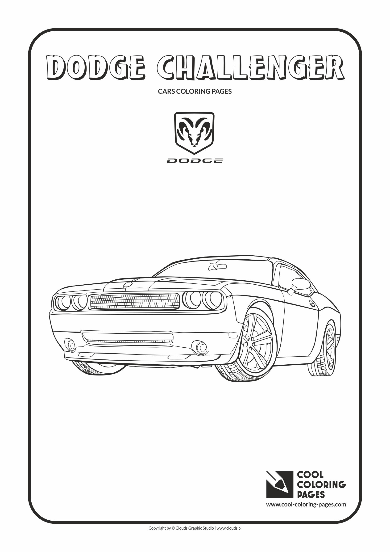 Cool Coloring Pages - Vehicles / Dodge Challenger / Coloring page with Dodge Challenger