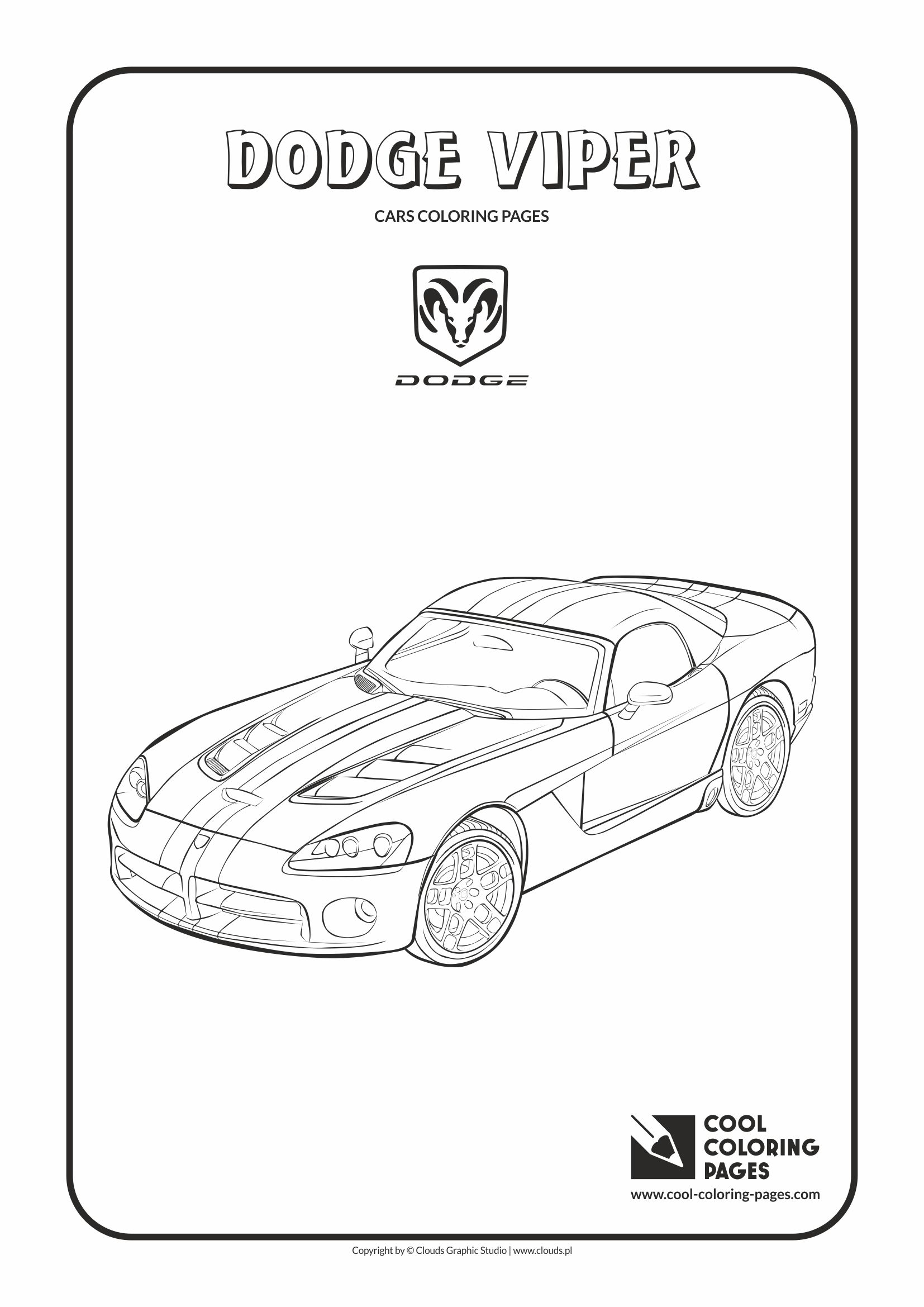 Cool Coloring Pages - Vehicles / Dodge Viper / Coloring page with Dodge Viper