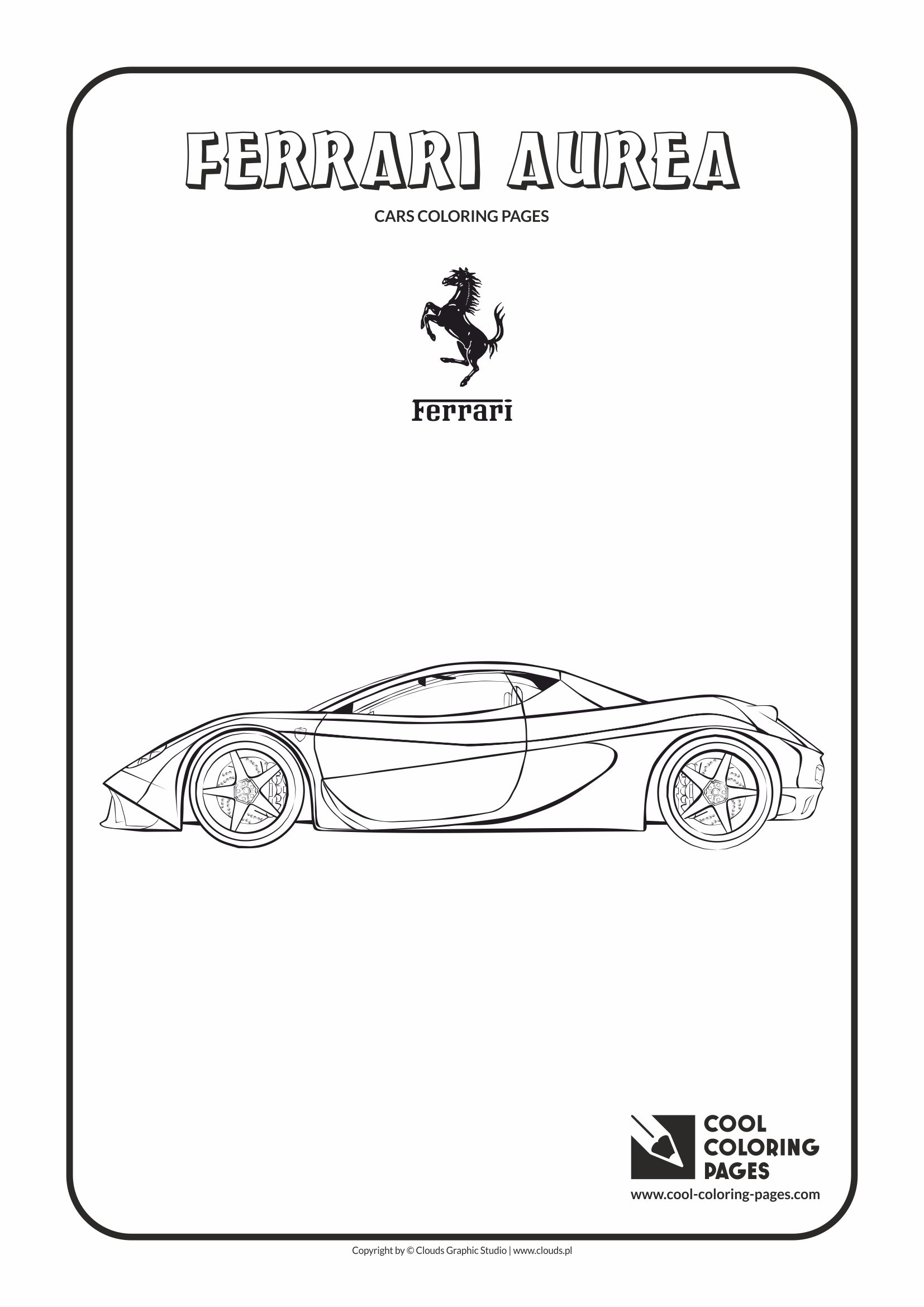 Cool Coloring Pages - Vehicles / Ferrari Aurea / Coloring page with Ferrari Aurea