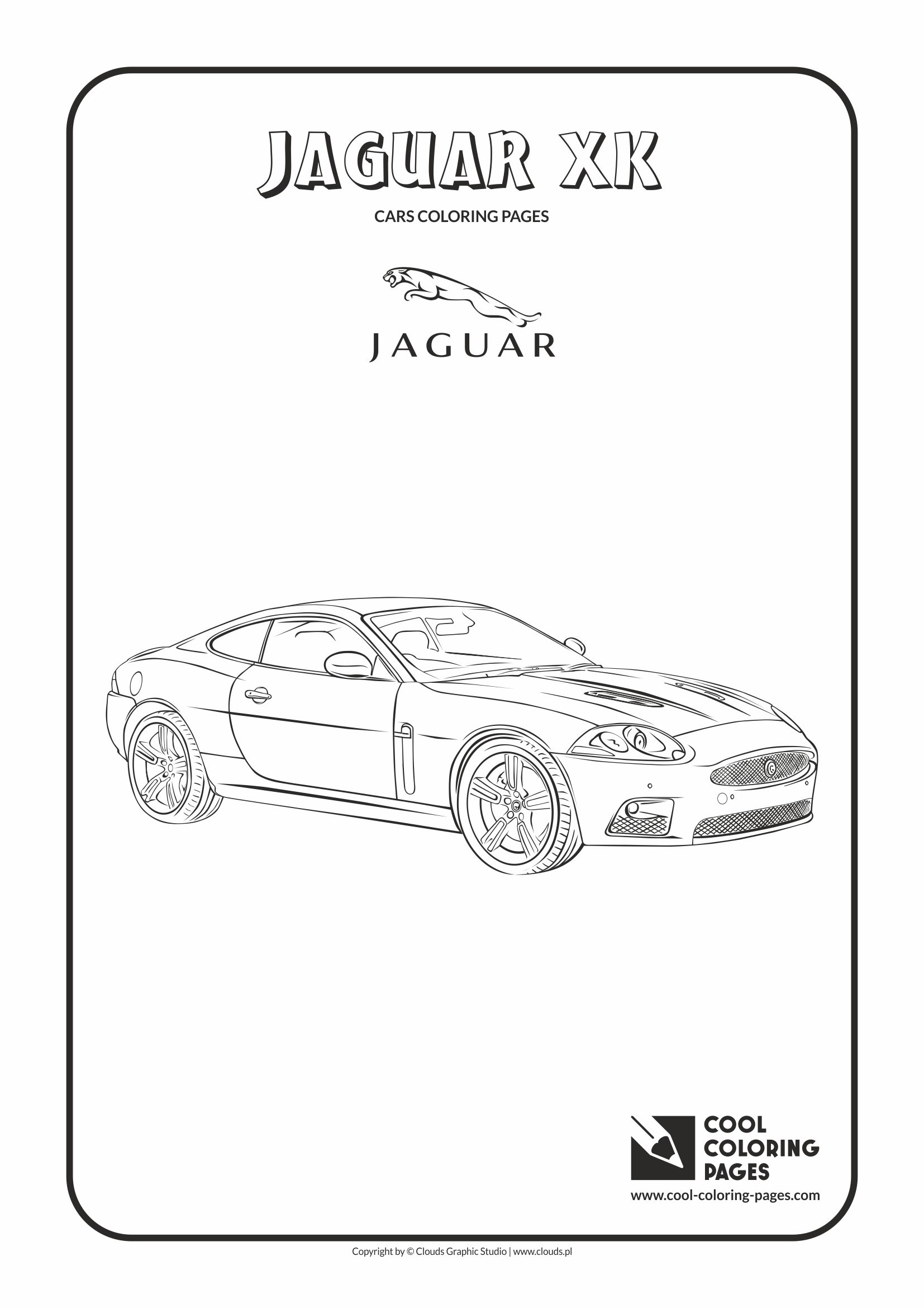Cool Coloring Pages - Vehicles / Jaguar XK / Coloring page with Jaguar XK