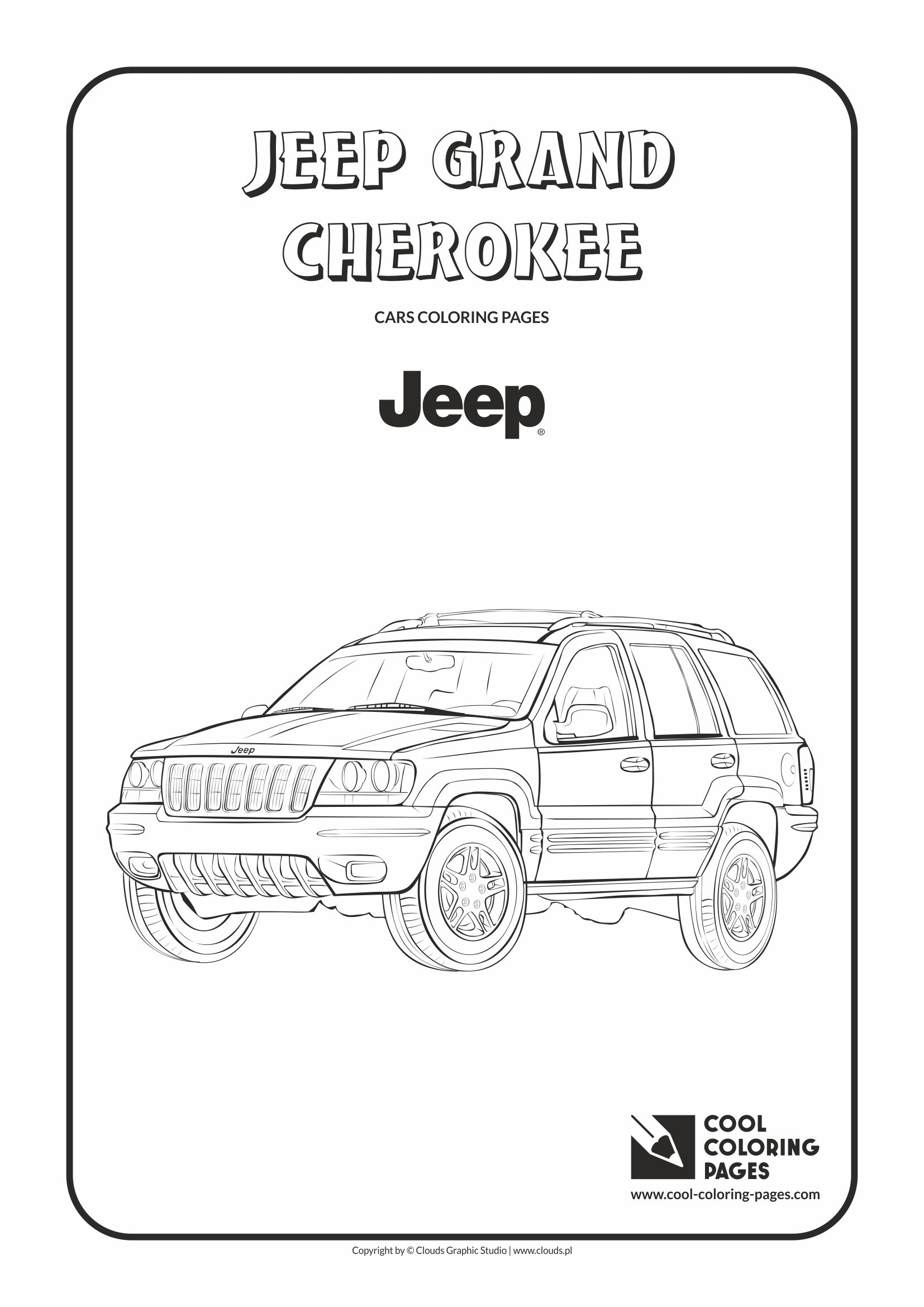 Cool Coloring Pages - Vehicles / Jeep Grand Cherokee / Coloring page with Jeep Grand Cherokee