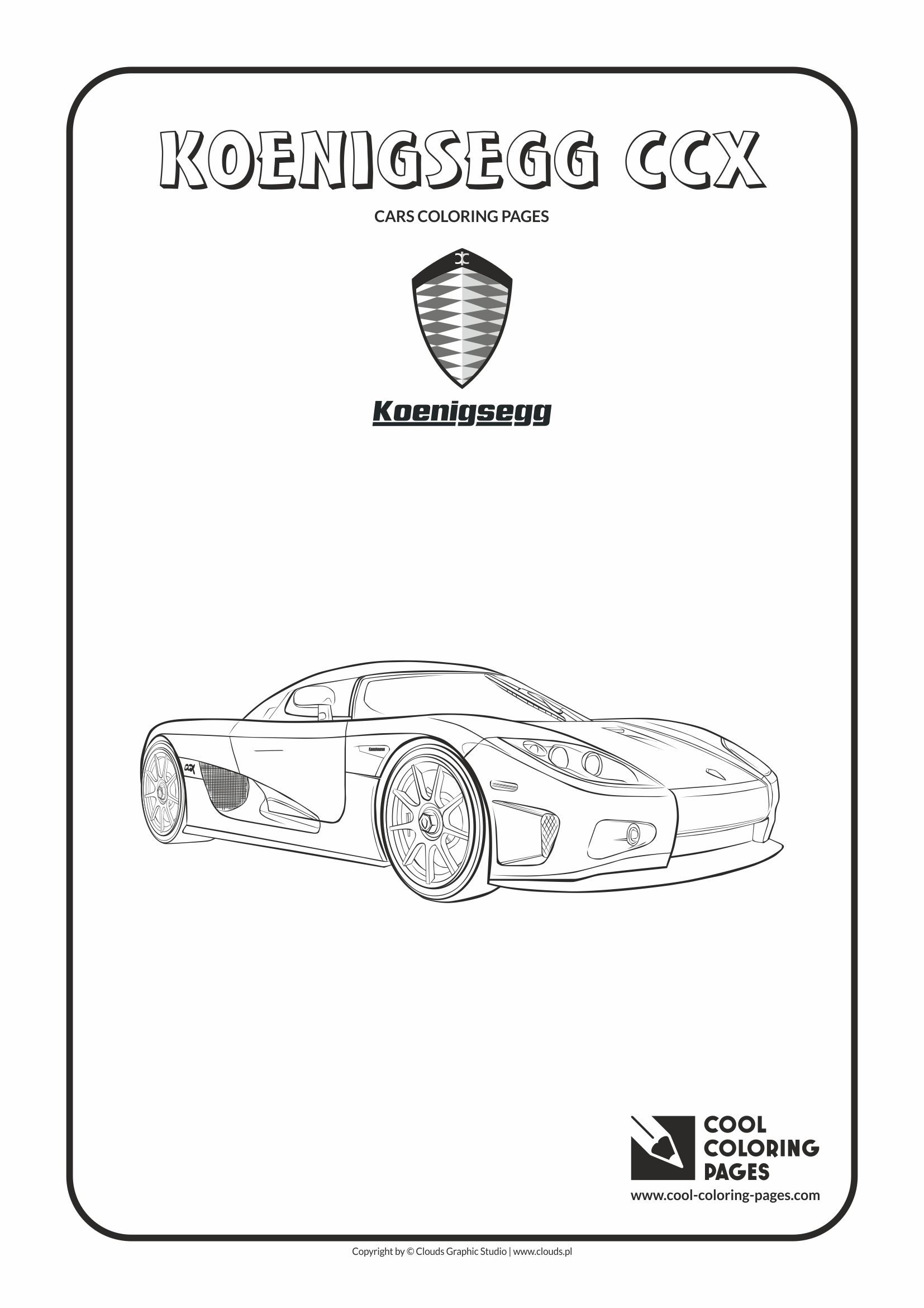 Cool Coloring Pages - Vehicles / Koenigsegg CCX / Coloring page with Koenigsegg CCX