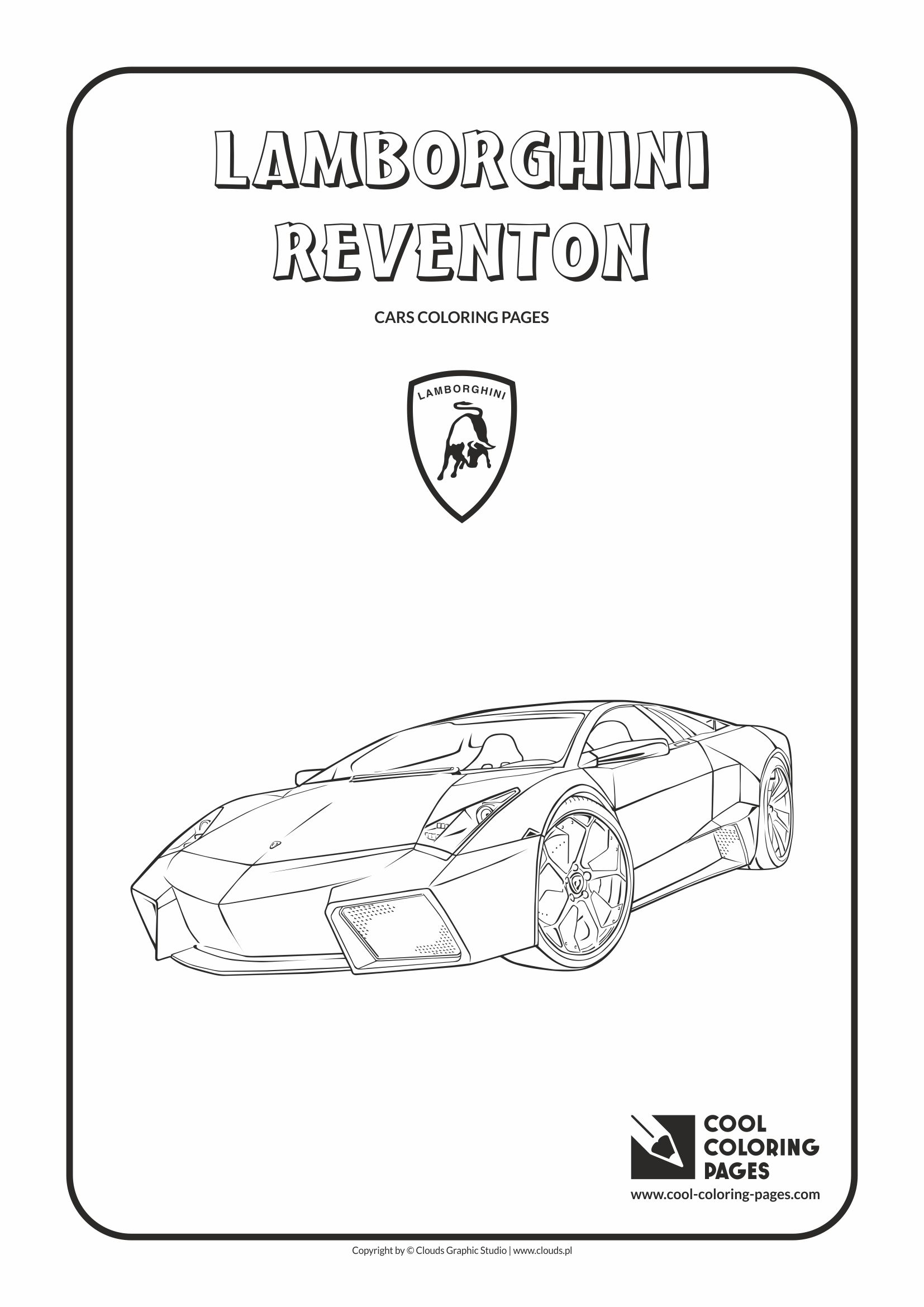 Cool Coloring Pages - Vehicles / Lamborghini Reventon / Coloring page with Lamborghini Reventon