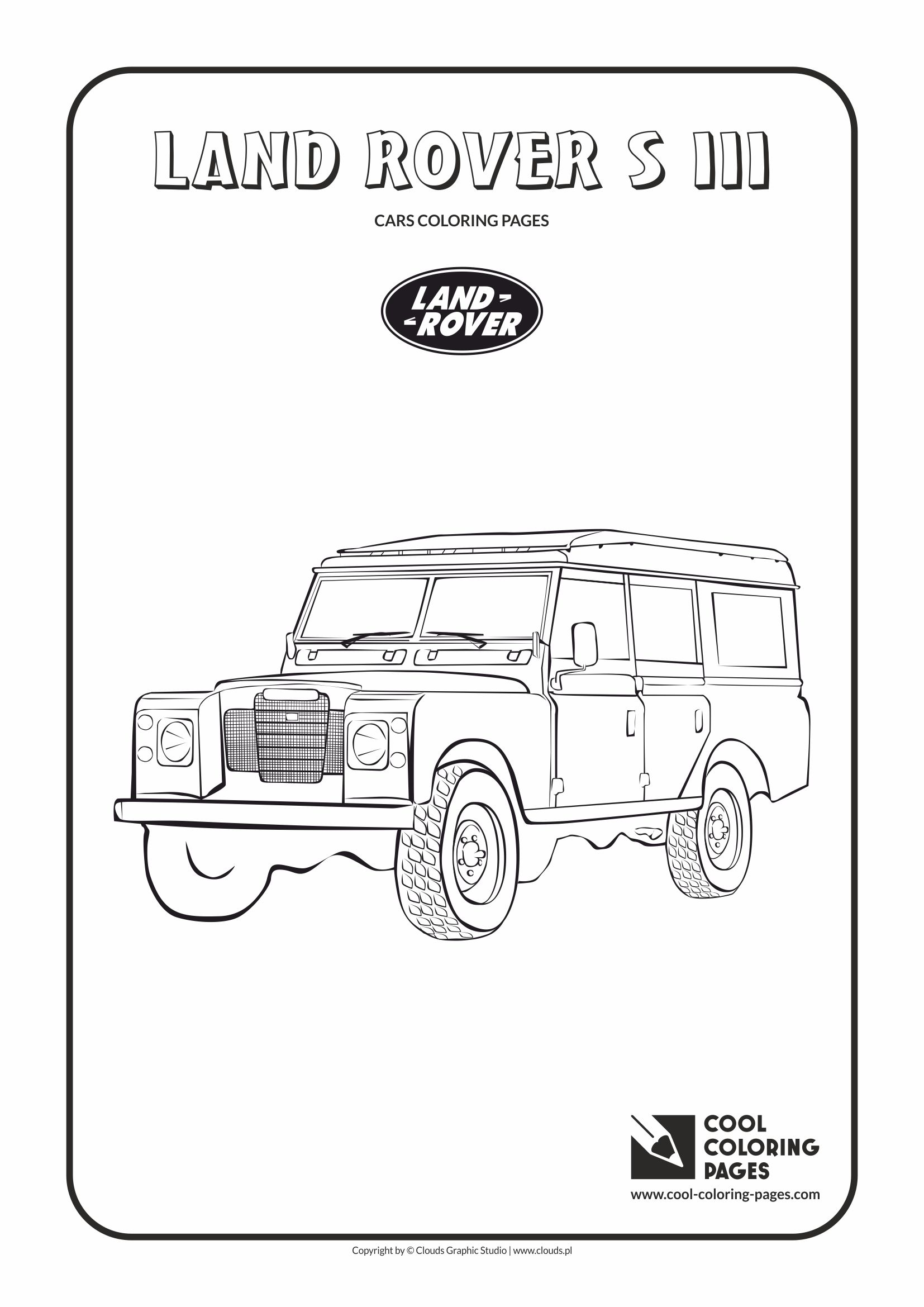 Cool Coloring Pages - Vehicles / Land Rover s III / Coloring page with Land Rover s III