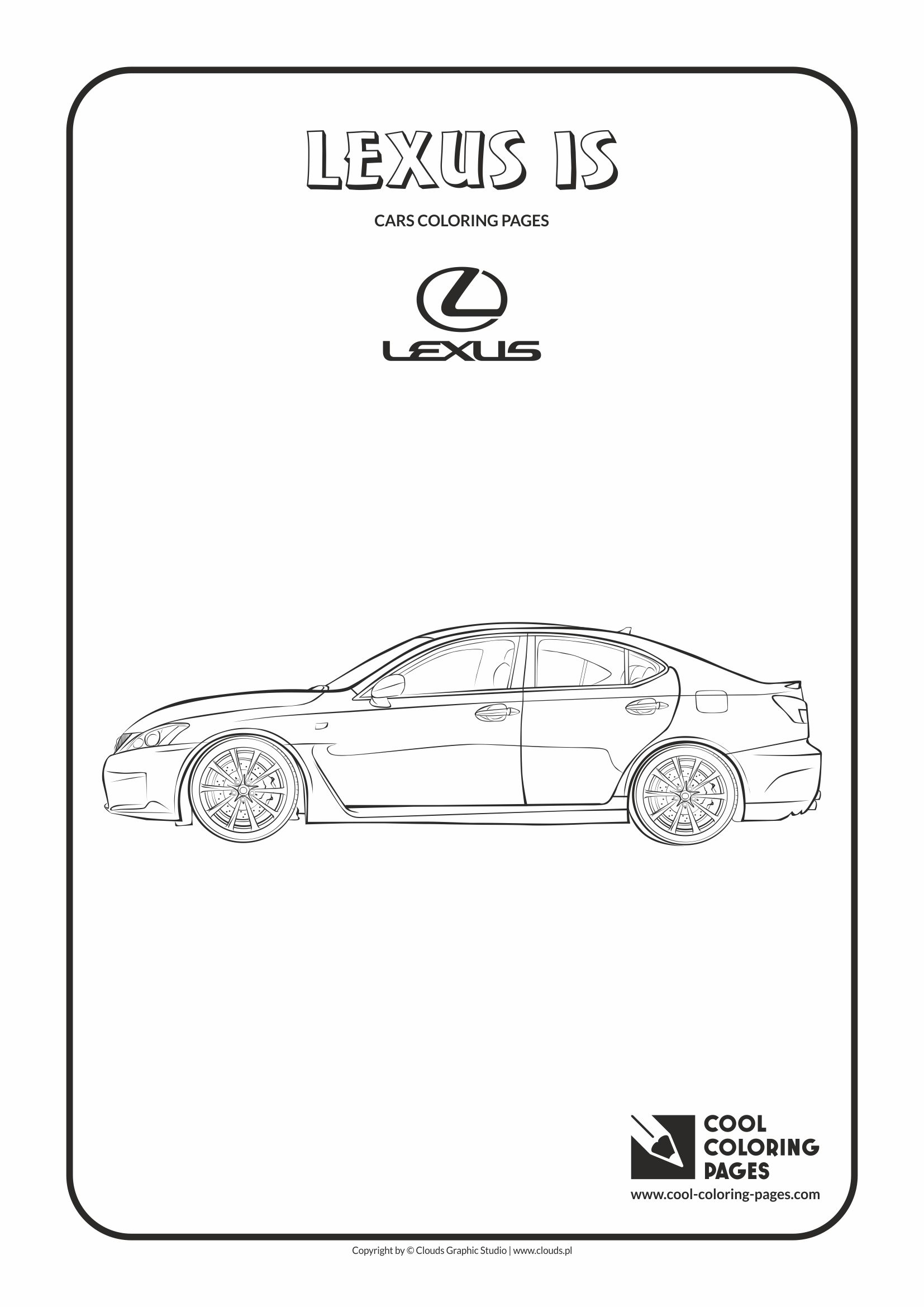 Cool Coloring Pages - Vehicles / Lexus IS / Coloring page with Lexus IS