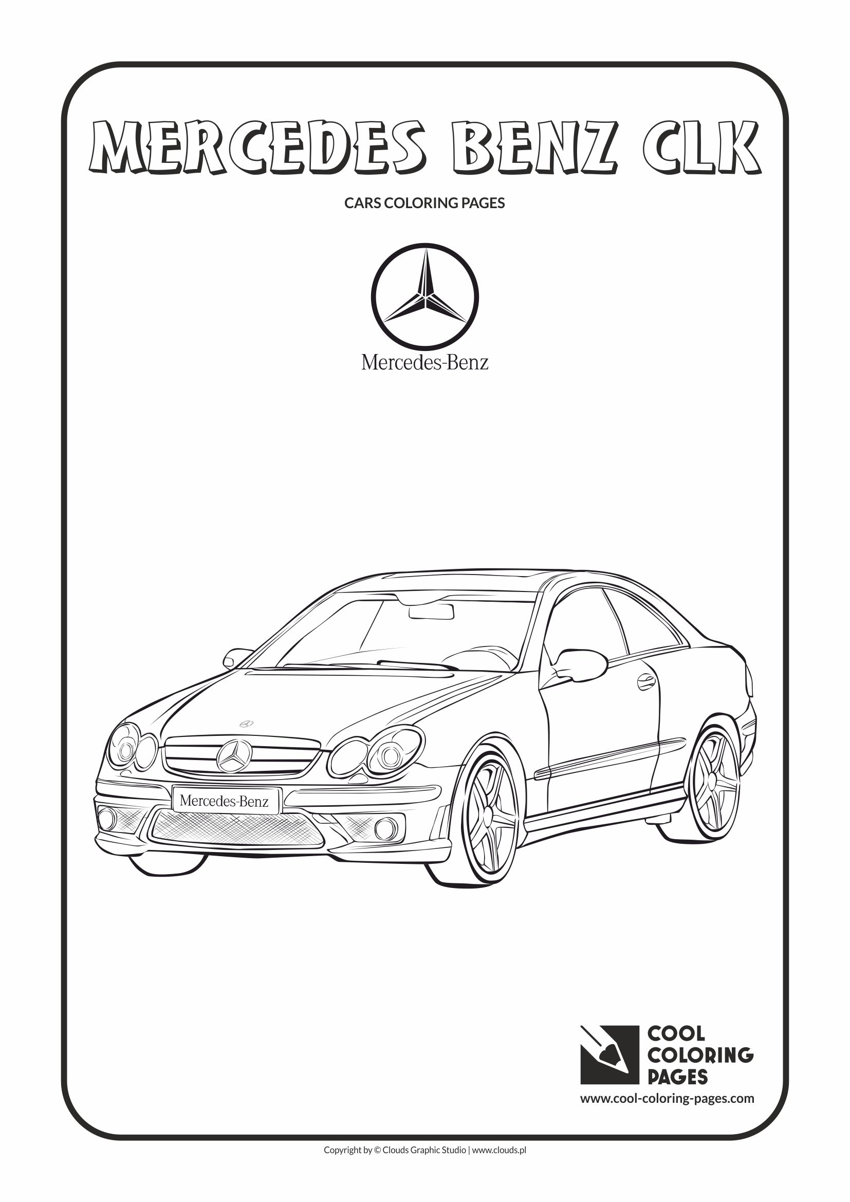 Cool Coloring Pages - Vehicles / Mercedes Benz CLK / Coloring page with Mercedes Benz CLK