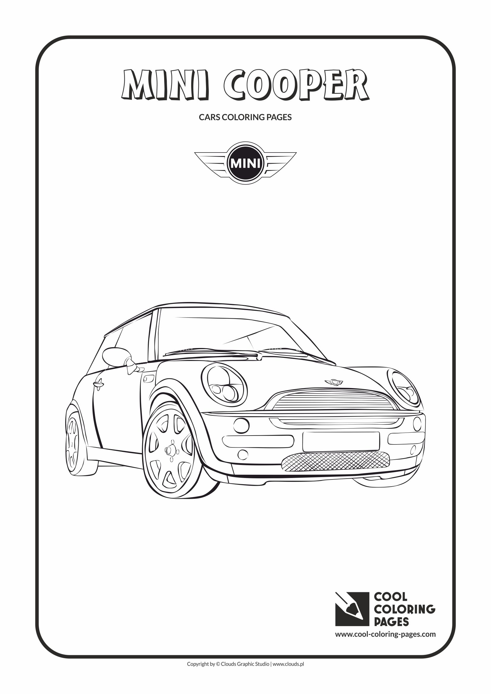 mini cooper coloring page cool coloring pages