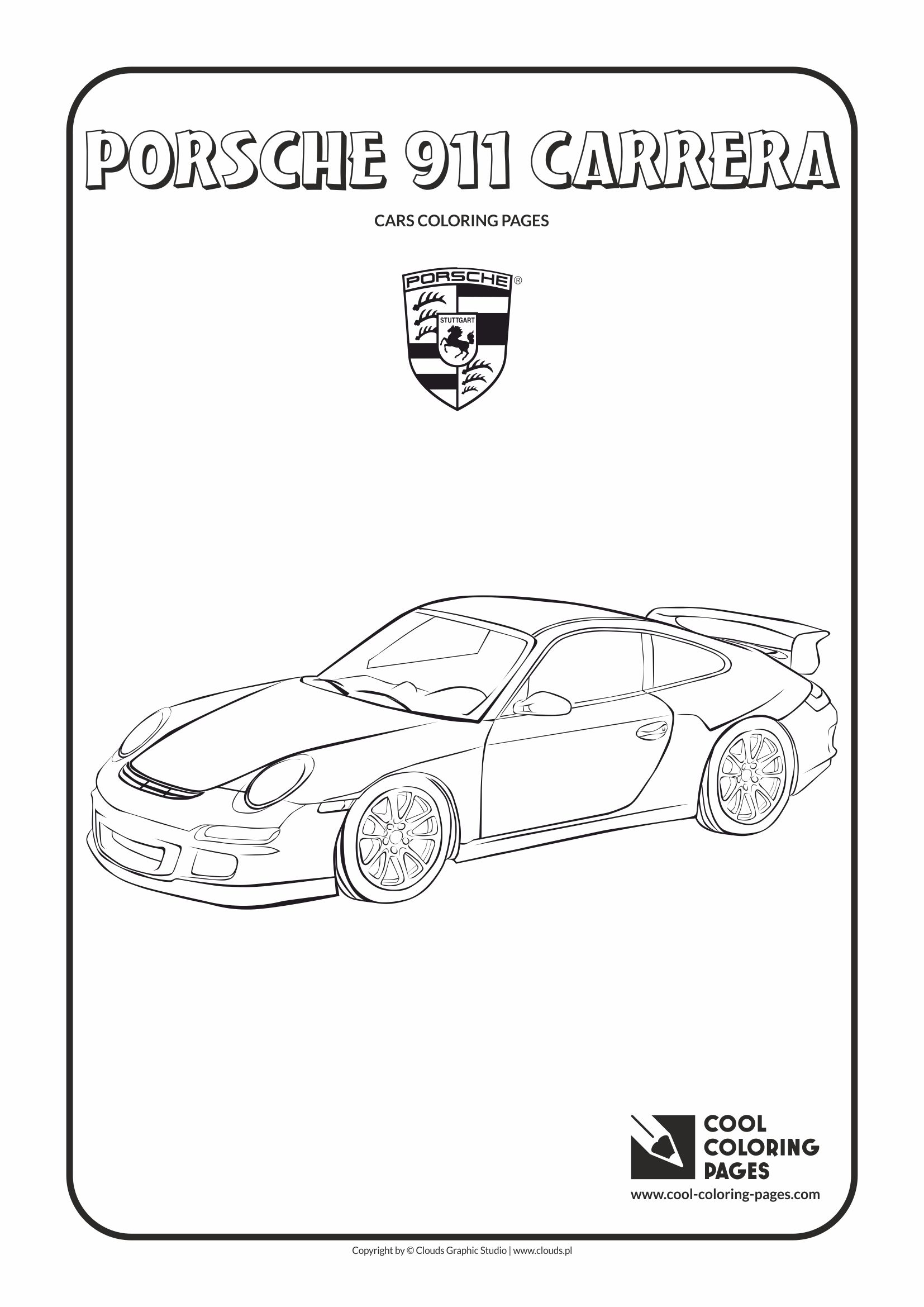 Cool Coloring Pages - Vehicles / Porsche 911 Carrera / Coloring page with Porsche 911 Carrera