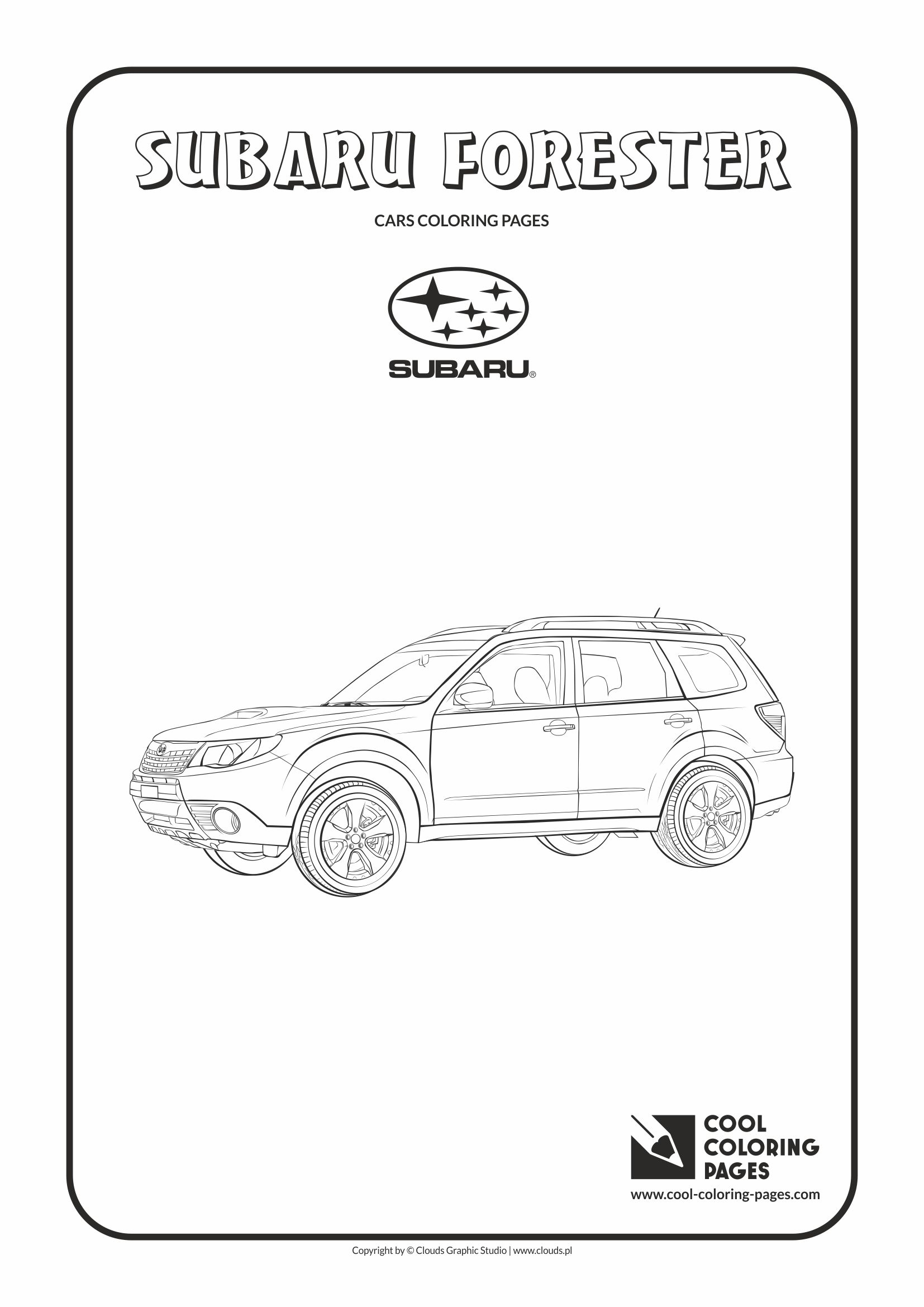 Cool Coloring Pages - Vehicles / Subaru Forester / Coloring page with Subaru Forester