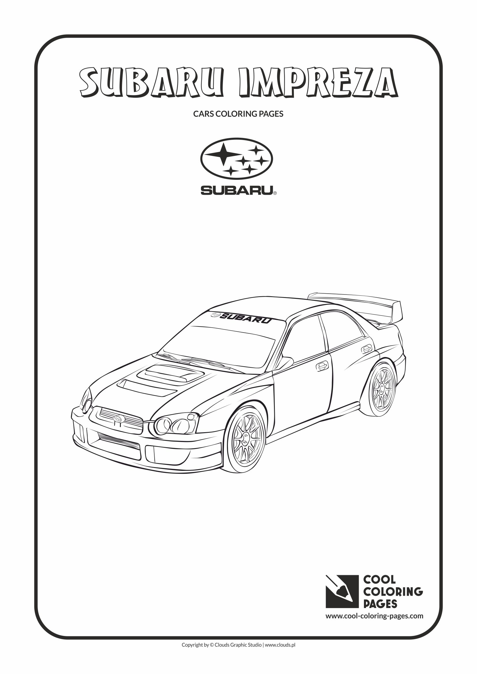 Subaru Impreza coloring page | Cool Coloring Pages