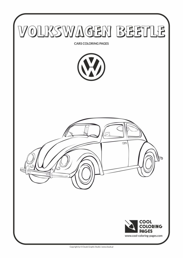 Cool Coloring Pages Volkswagen Beetle Coloring Page Cool