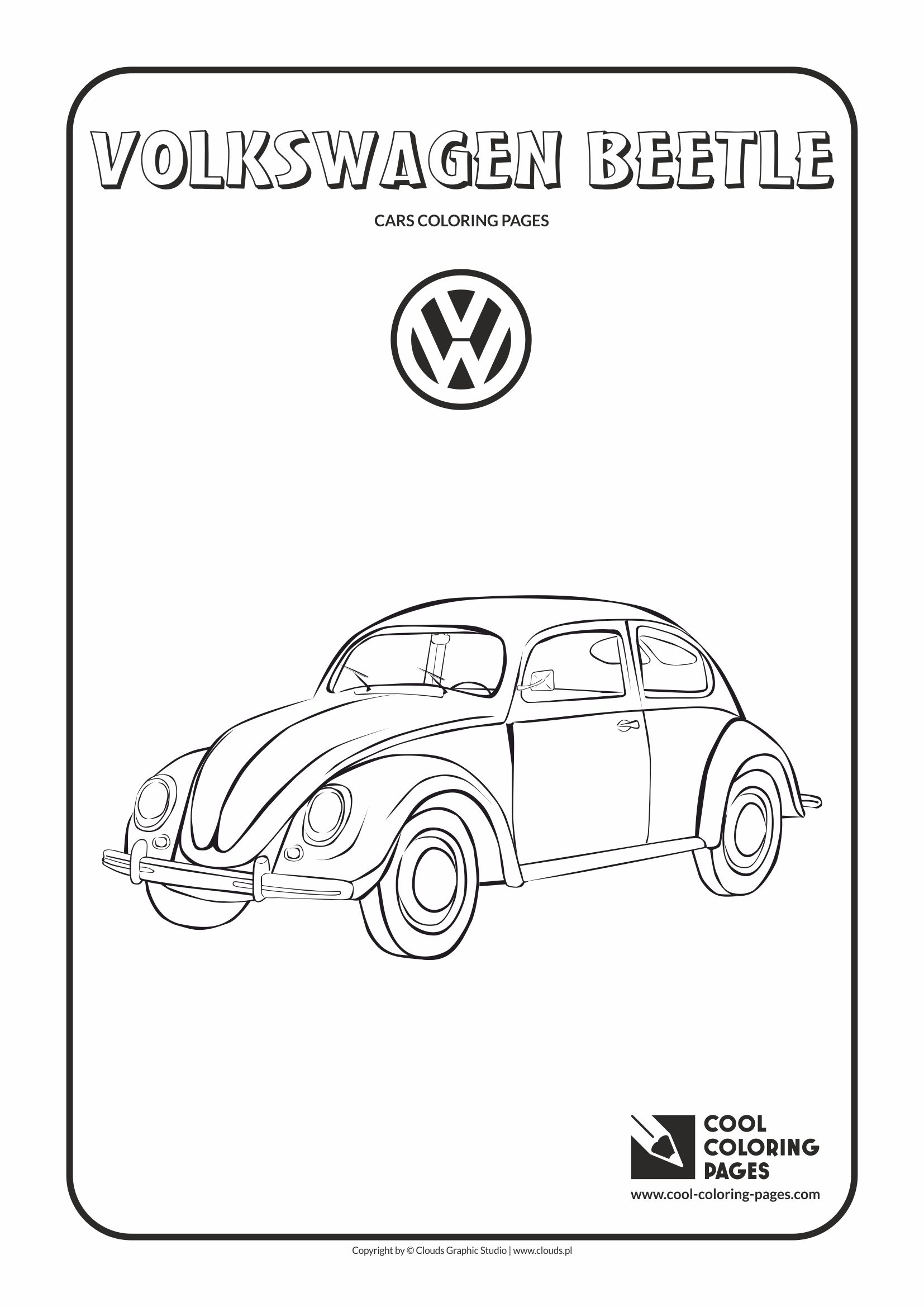 Cool Coloring Pages - Vehicles / Volkswagen Beetle / Coloring page with Volkswagen Beetle