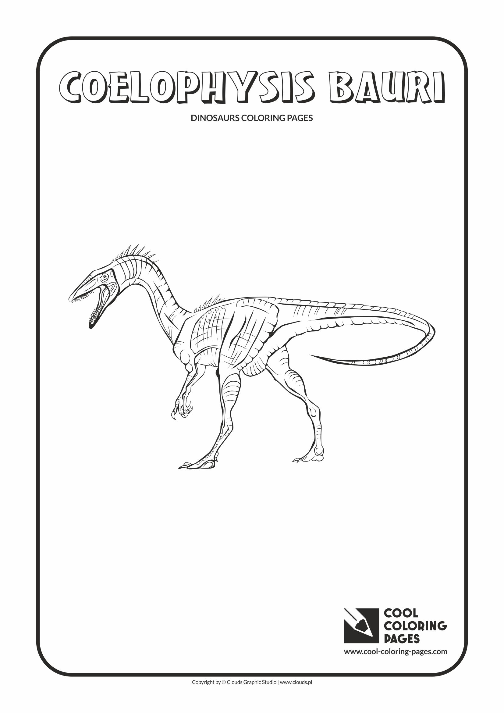 Cool Coloring Pages - Animals / Coelophysis bauri / Coloring page with Coelophysis bauri