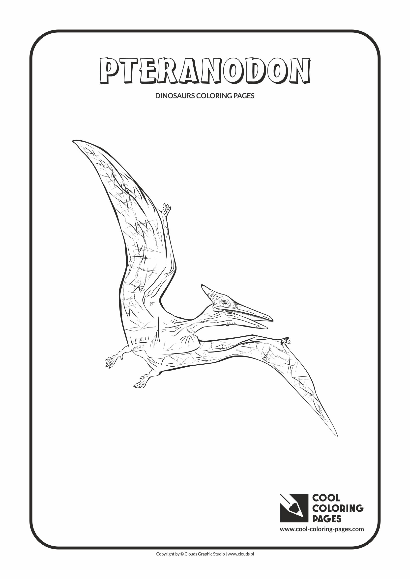 Cool Coloring Pages - Animals / Pteranodon / Coloring page with pteranodon