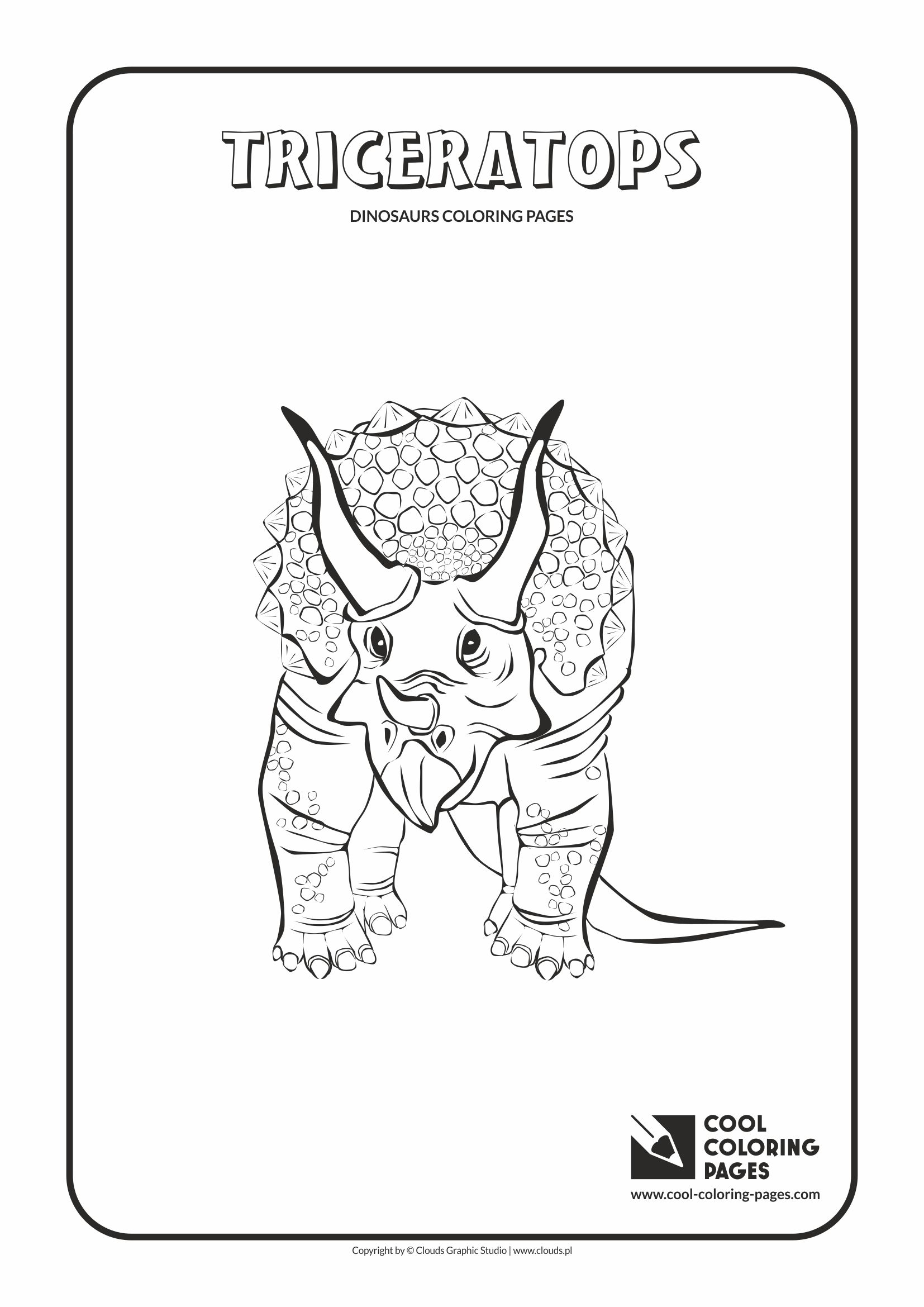 Cool Coloring Pages - Animals / Triceratops / Coloring page with triceratops