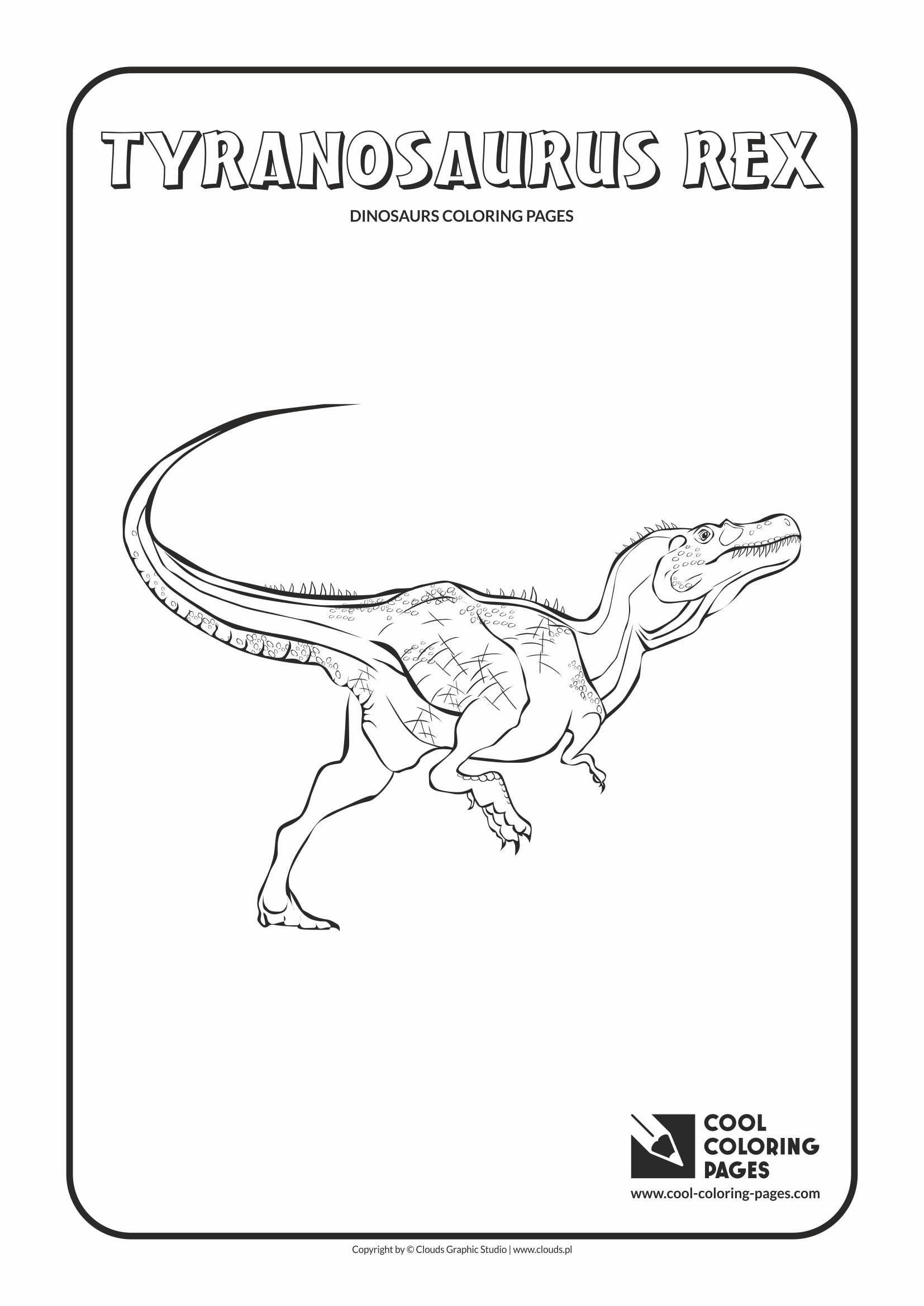 Cool Coloring Pages - Animals / Tyranosaurus rex / Coloring page with tyranosaurus rex