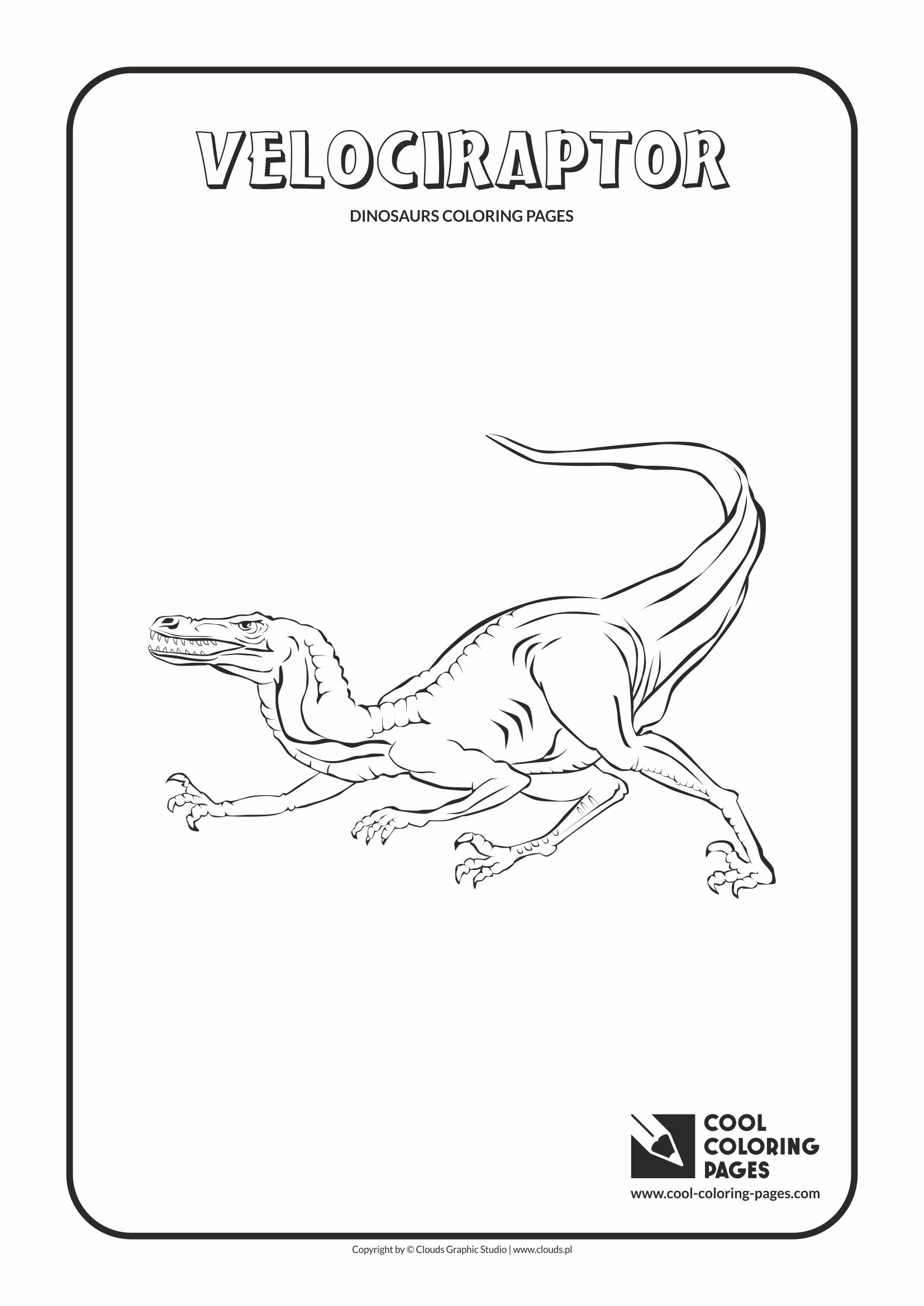 Cool Coloring Pages - Animals / Velociraptor / Coloring page with velociraptor