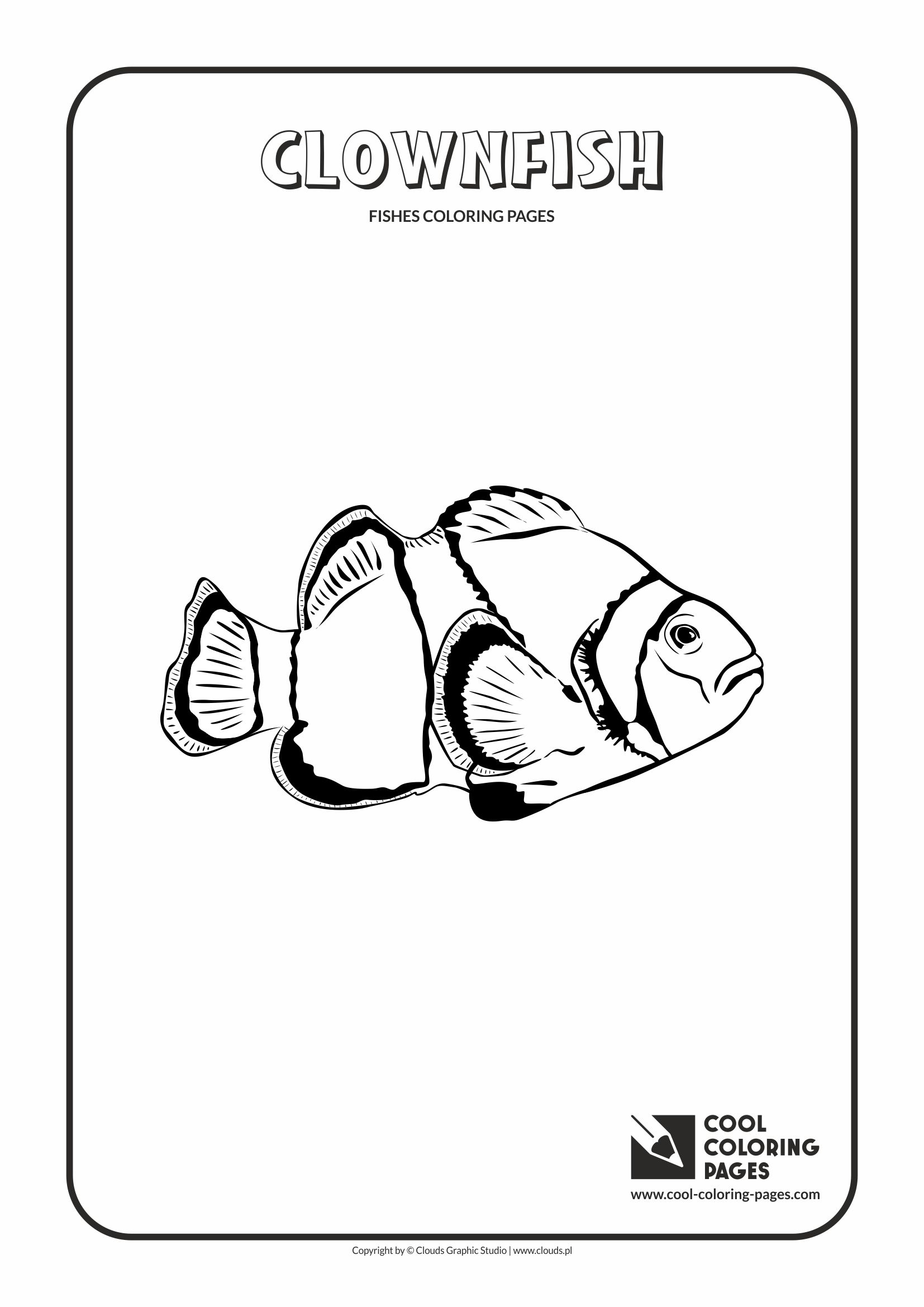 Cool Coloring Pages - Animals / Clownfish / Coloring page with clownfish