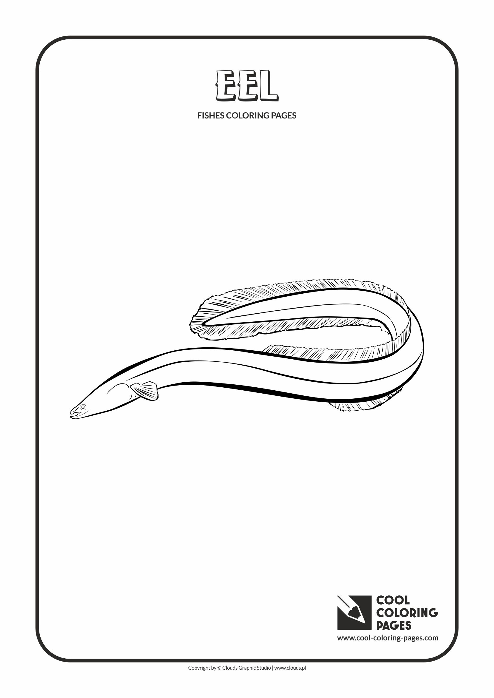 Cool Coloring Pages - Animals / Eel / Coloring page with eel
