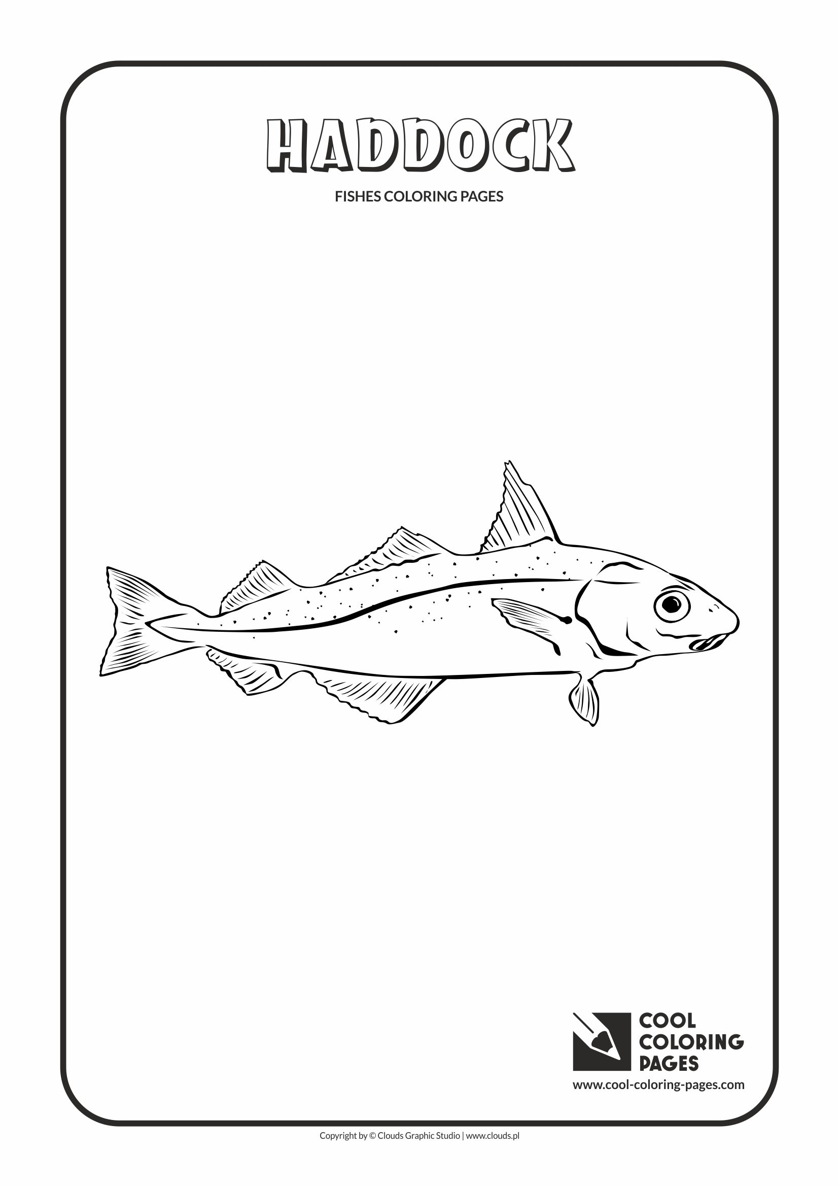 Cool Coloring Pages - Animals / Haddock / Coloring page with haddock