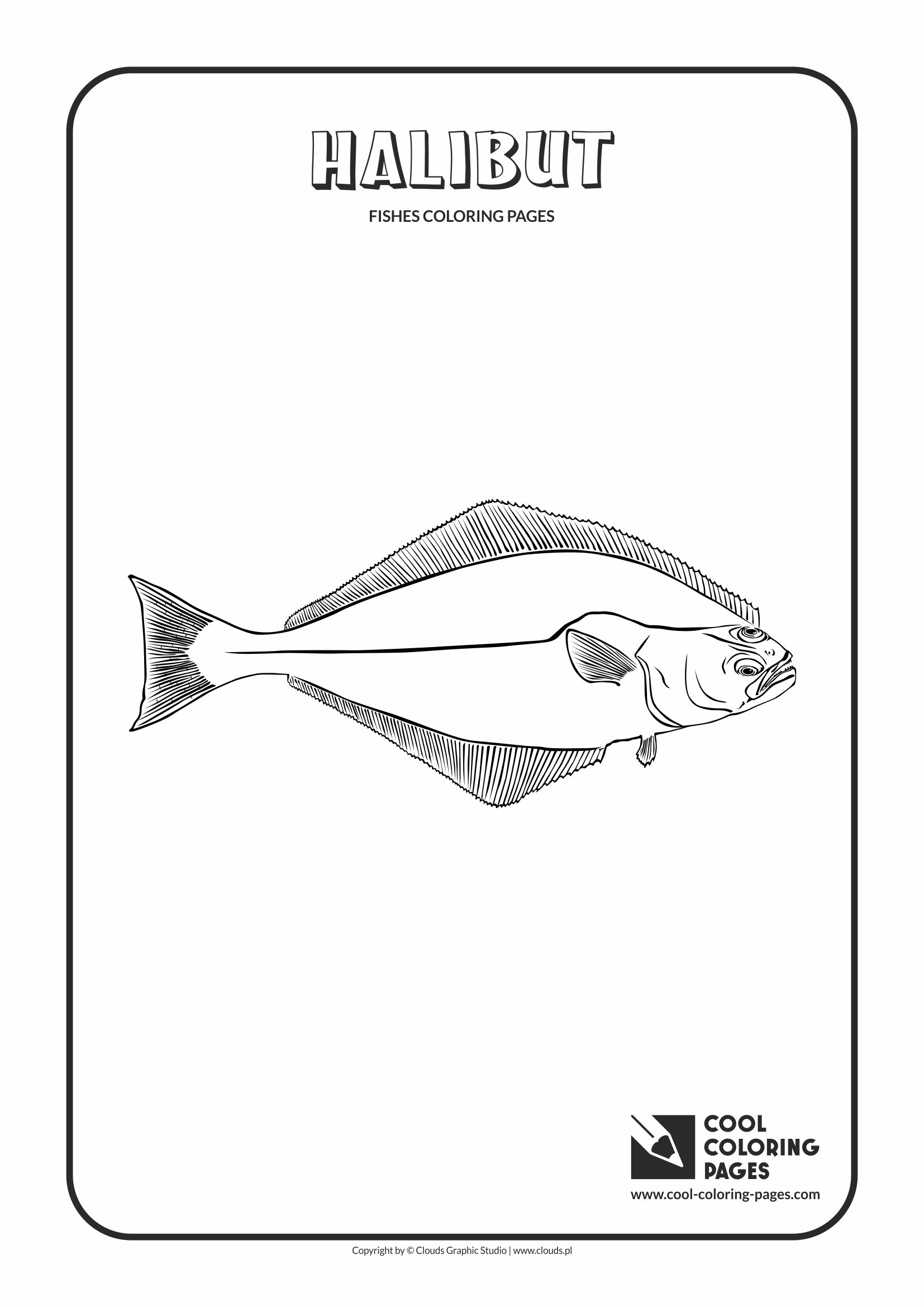 Cool Coloring Pages - Animals / Halibut / Coloring page with halibut