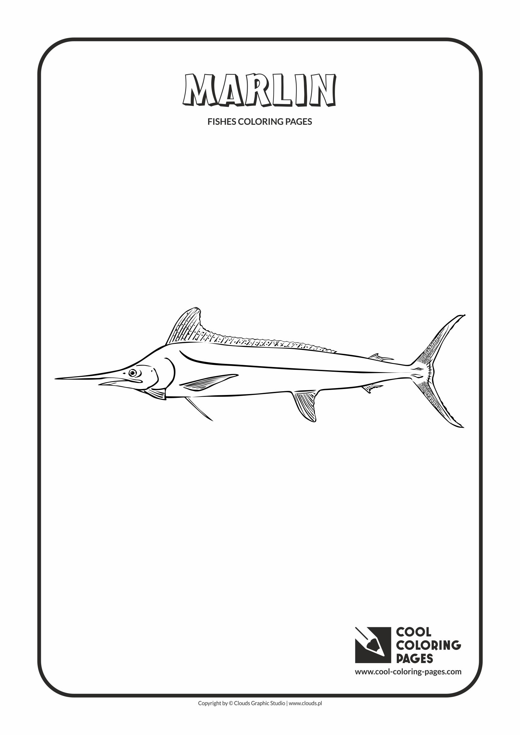 Cool Coloring Pages - Animals / Marlin / Coloring page with marlin