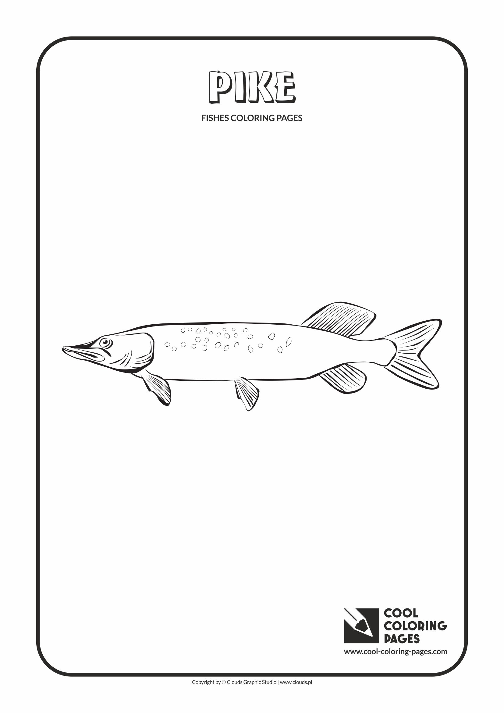 Cool Coloring Pages   Animals / Pike / Coloring Page With Pike