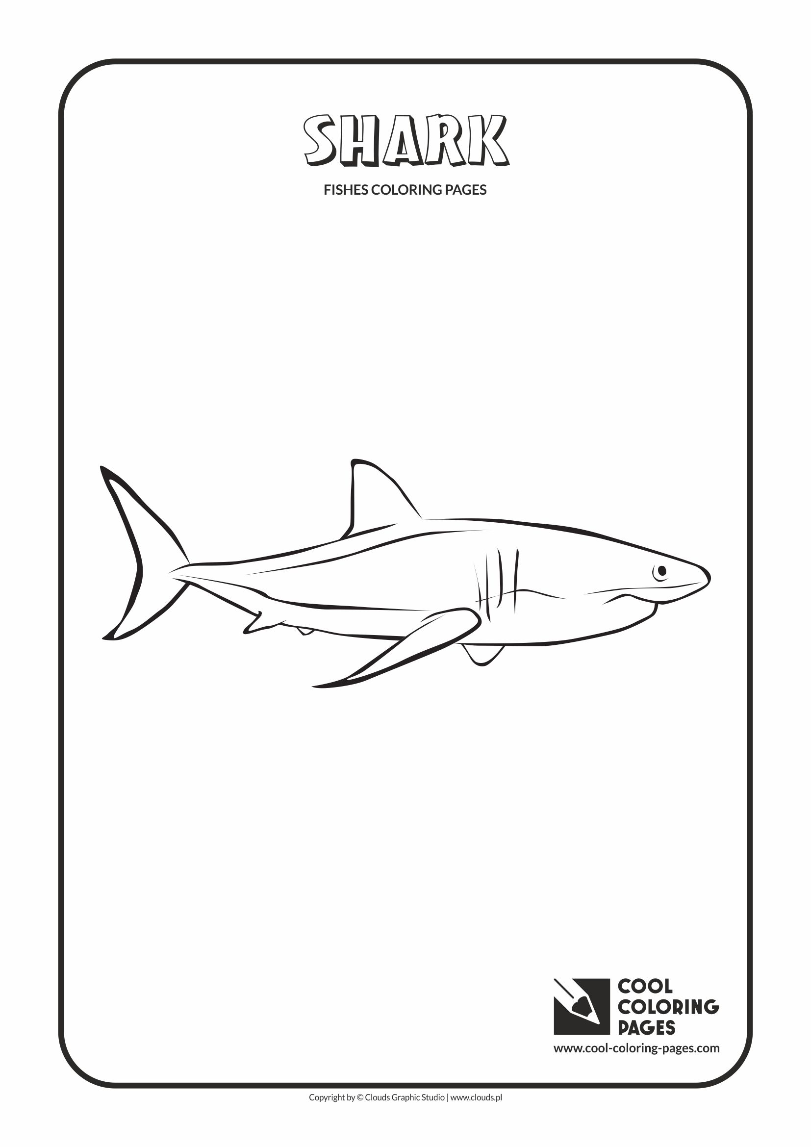 Cool Coloring Pages - Animals / Shark / Coloring page with shark