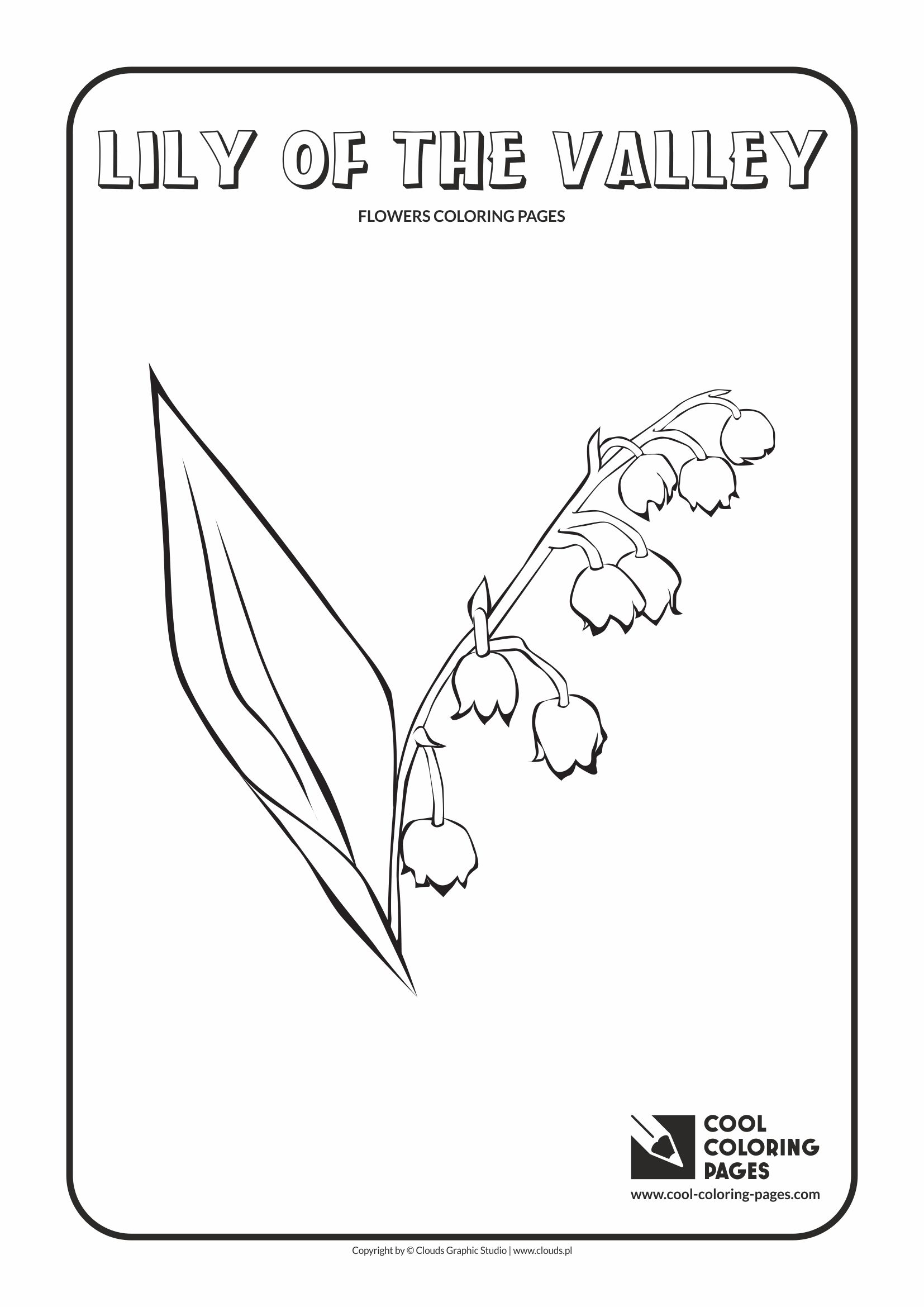 Cool Coloring Pages - Plants / Lily of the valley / Coloring page with lily of the valley