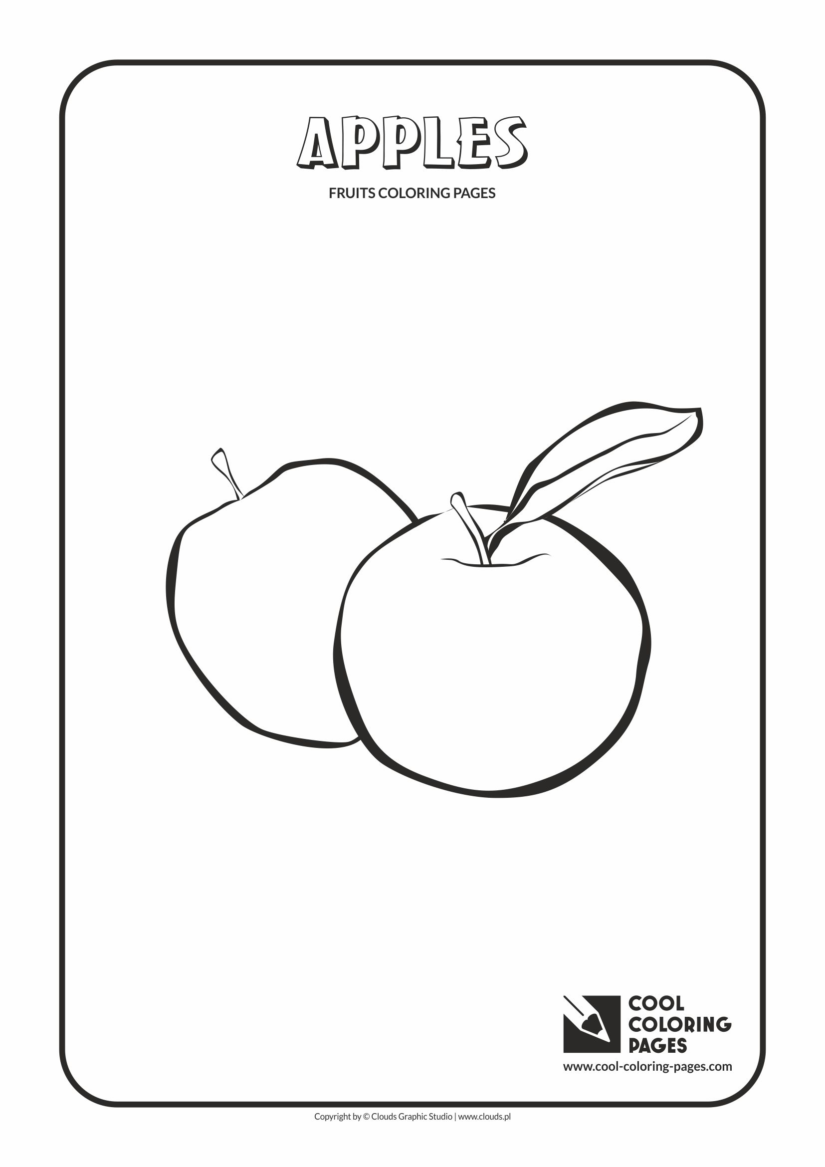 Cool Coloring Pages - Plants / Apples / Coloring page with apples