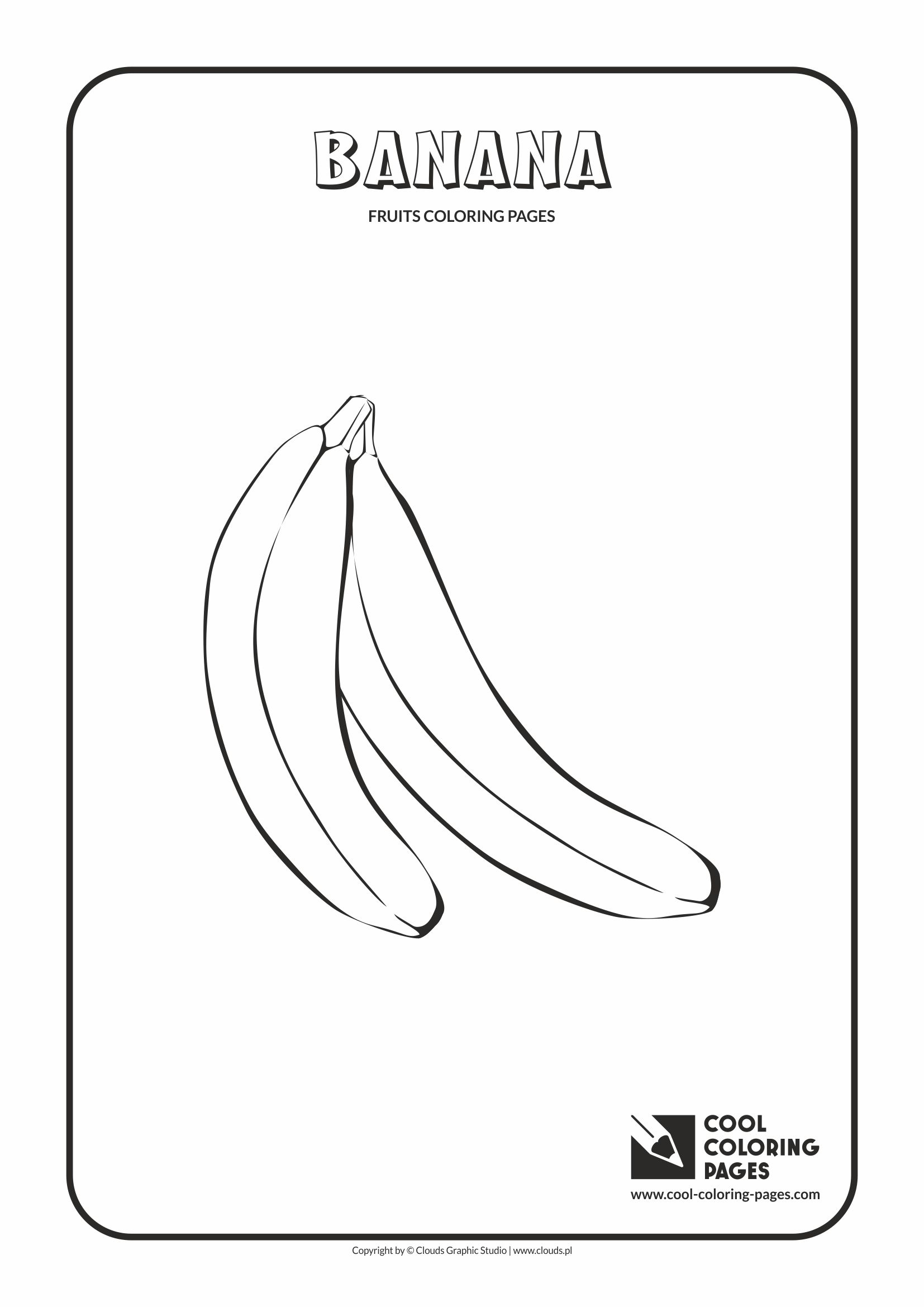 Cool Coloring Pages - Plants / Banana / Coloring page with banana
