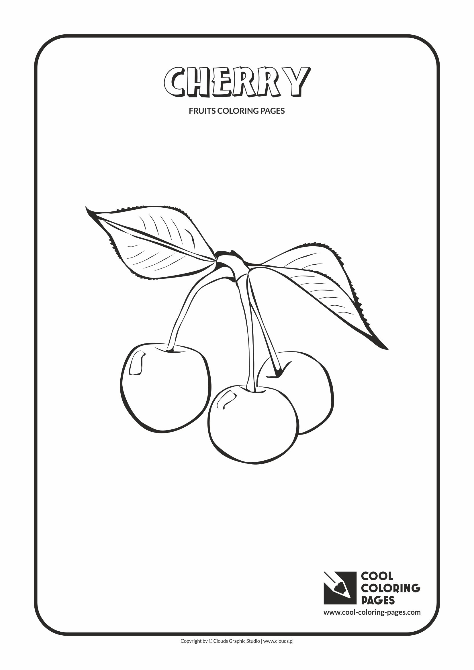Cool Coloring Pages - Plants / Cherry / Coloring page with cherry